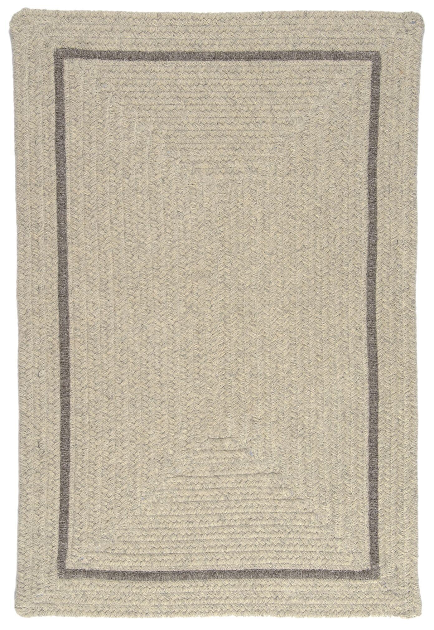 Shear Natural Cobblestone Area Rug Rug Size: Square 6'