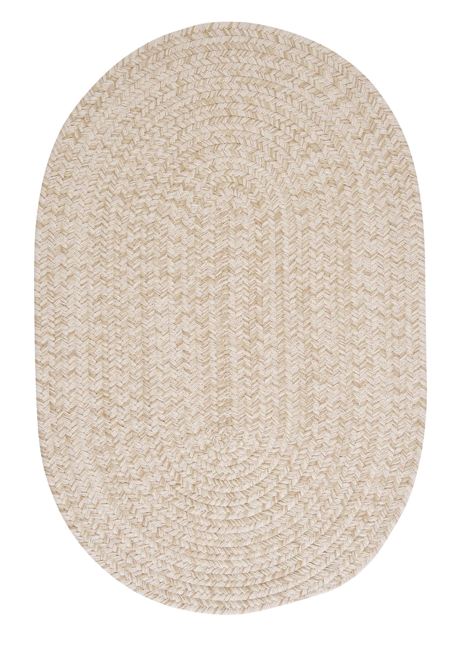 Maleah Natural Area Rug Rug Size: Oval 12' x 15'
