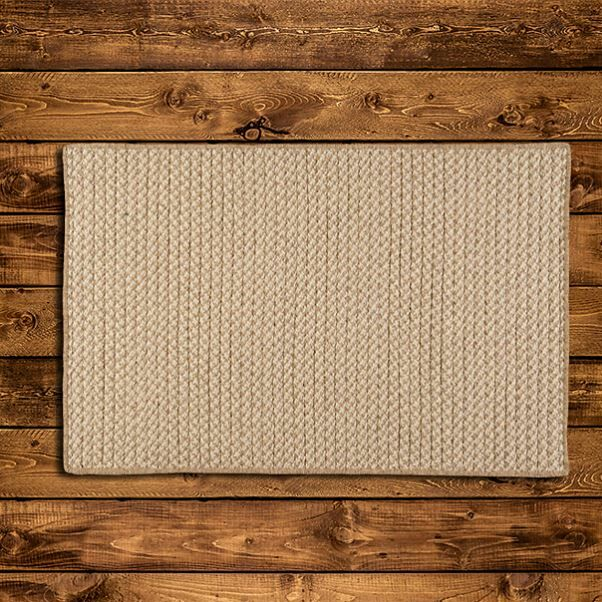 Natural Wool Houndstooth Braided Tea Area Rug Rug Size: Rectangle 3' x 5'
