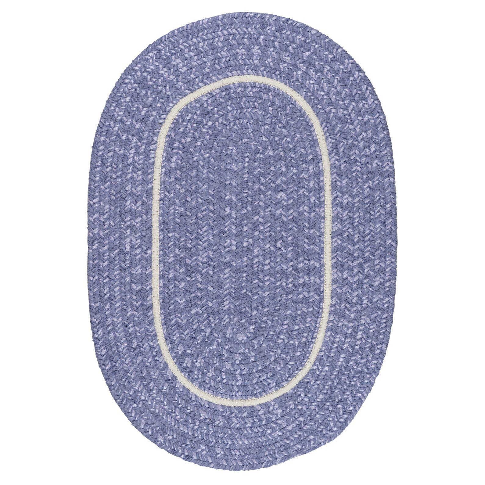 Silhouette Purple Indoor/Outdoor Area Rug Rug Size: Oval 4' x 6'