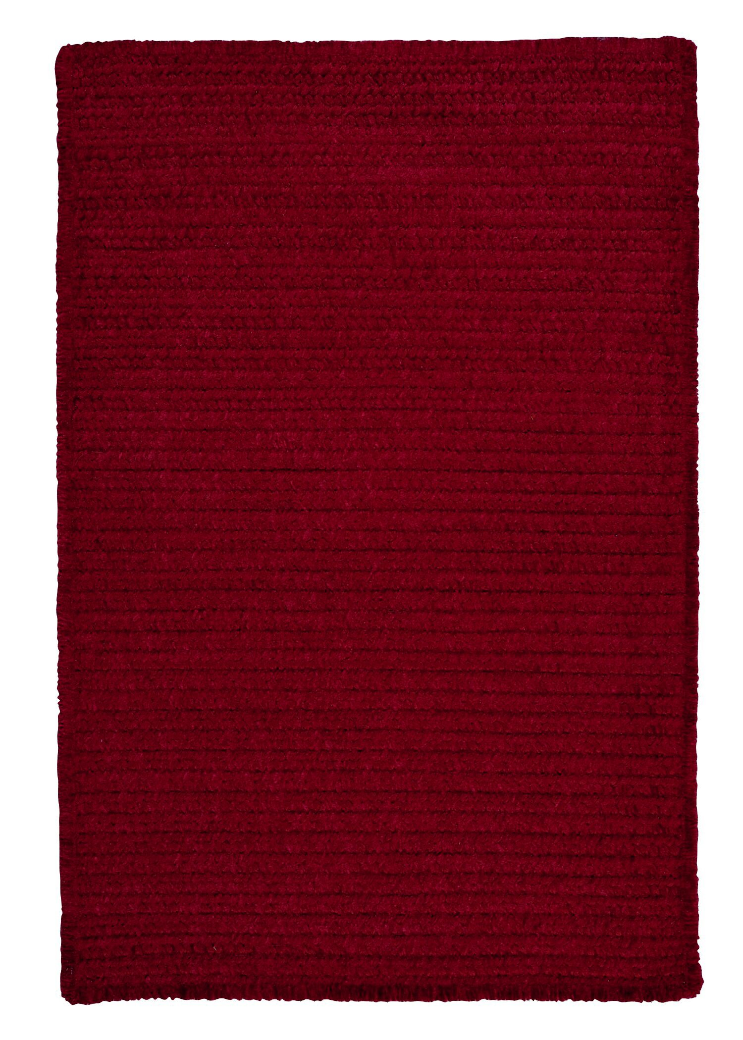 Solid Chenille Sangria Area Rug Rug Size: Rectangle 3' x 5'