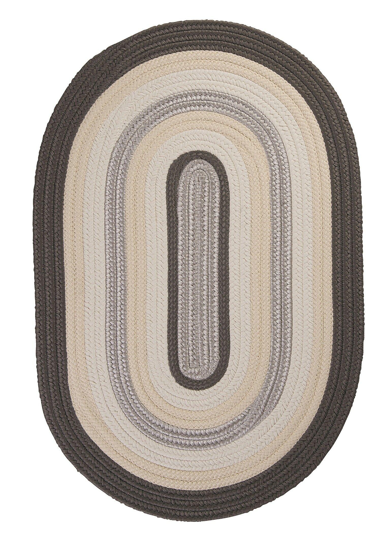 Brooklyn Slate Braided Indoor/Outdoor Area Rug Rug Size: Rectangle 8' x 11'