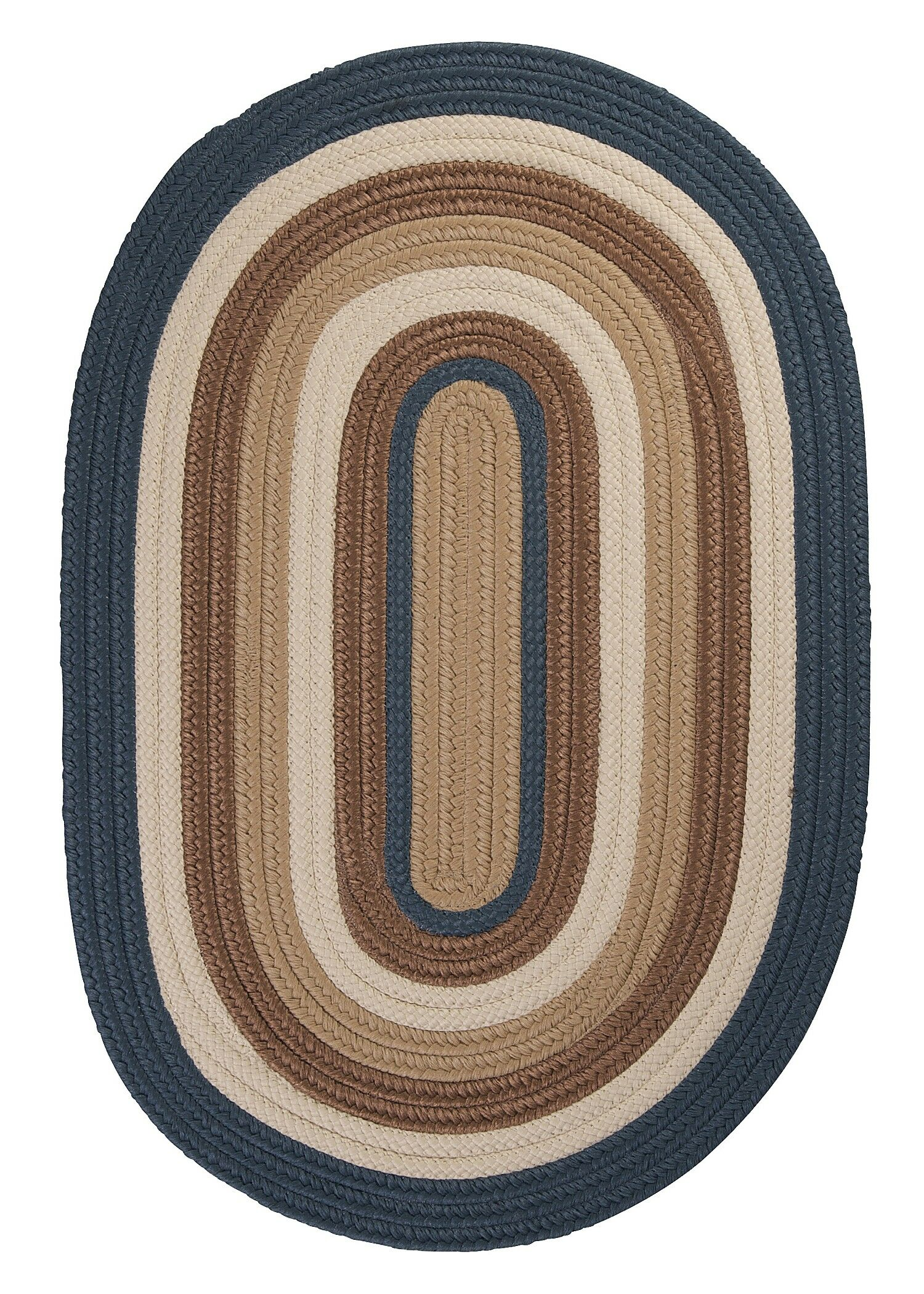 Brooklyn Blue Haze Braided Indoor/Outdoor Area Rug Rug Size: Round 8'