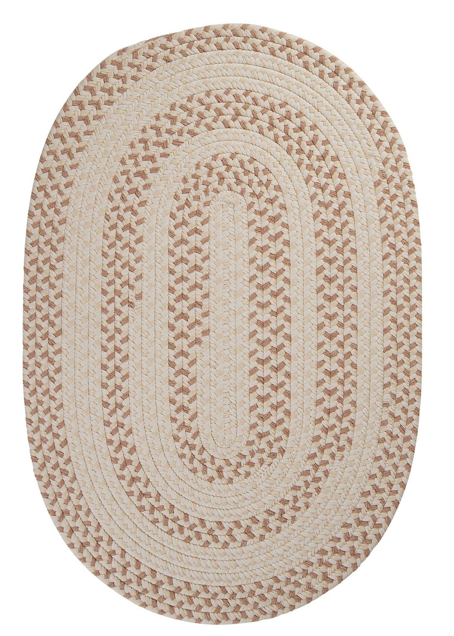 Elmwood Evergold Braided Area Rug Rug Size: Rectangle 12' x 15'