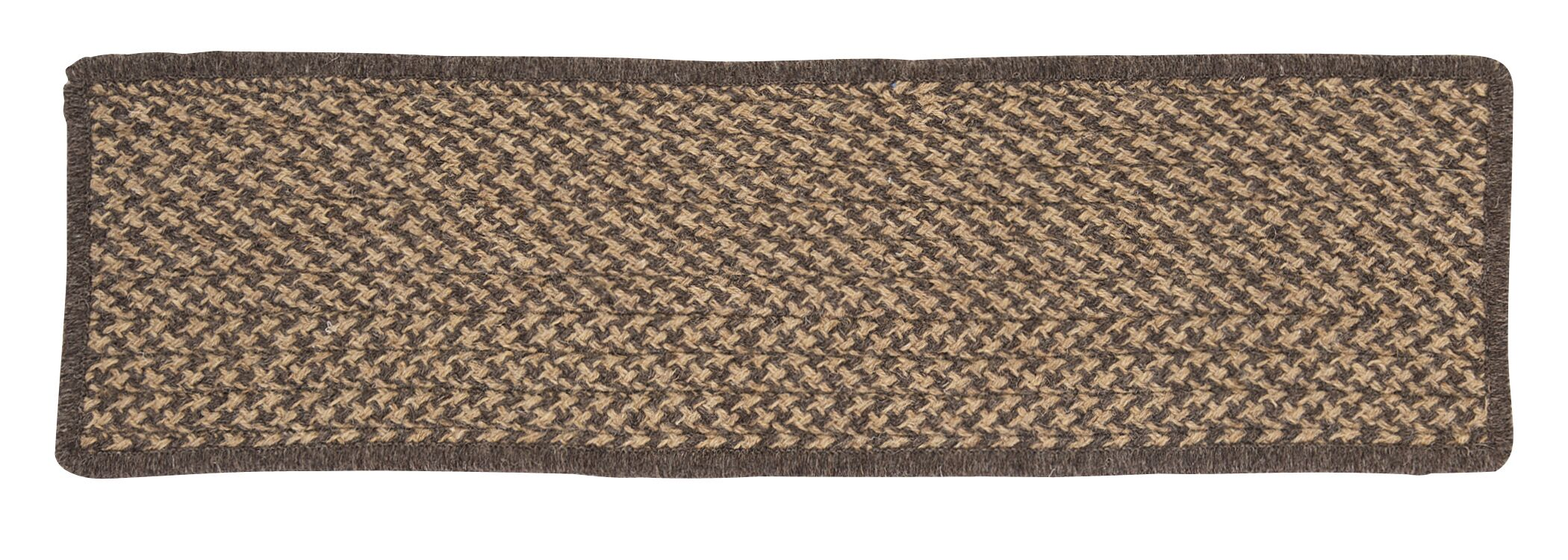 Natural Wool Houndstooth Caramel Stair Tread Quantity: Set of 13 Stair Treads