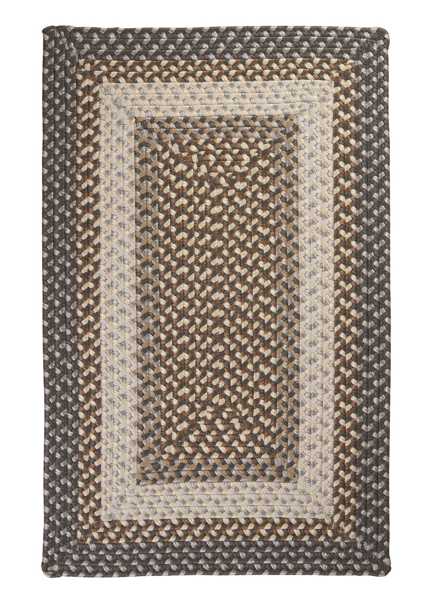 Tiburon Misted Grey Braided Indoor/Outdoor Area Rug Rug Size: Square 12'