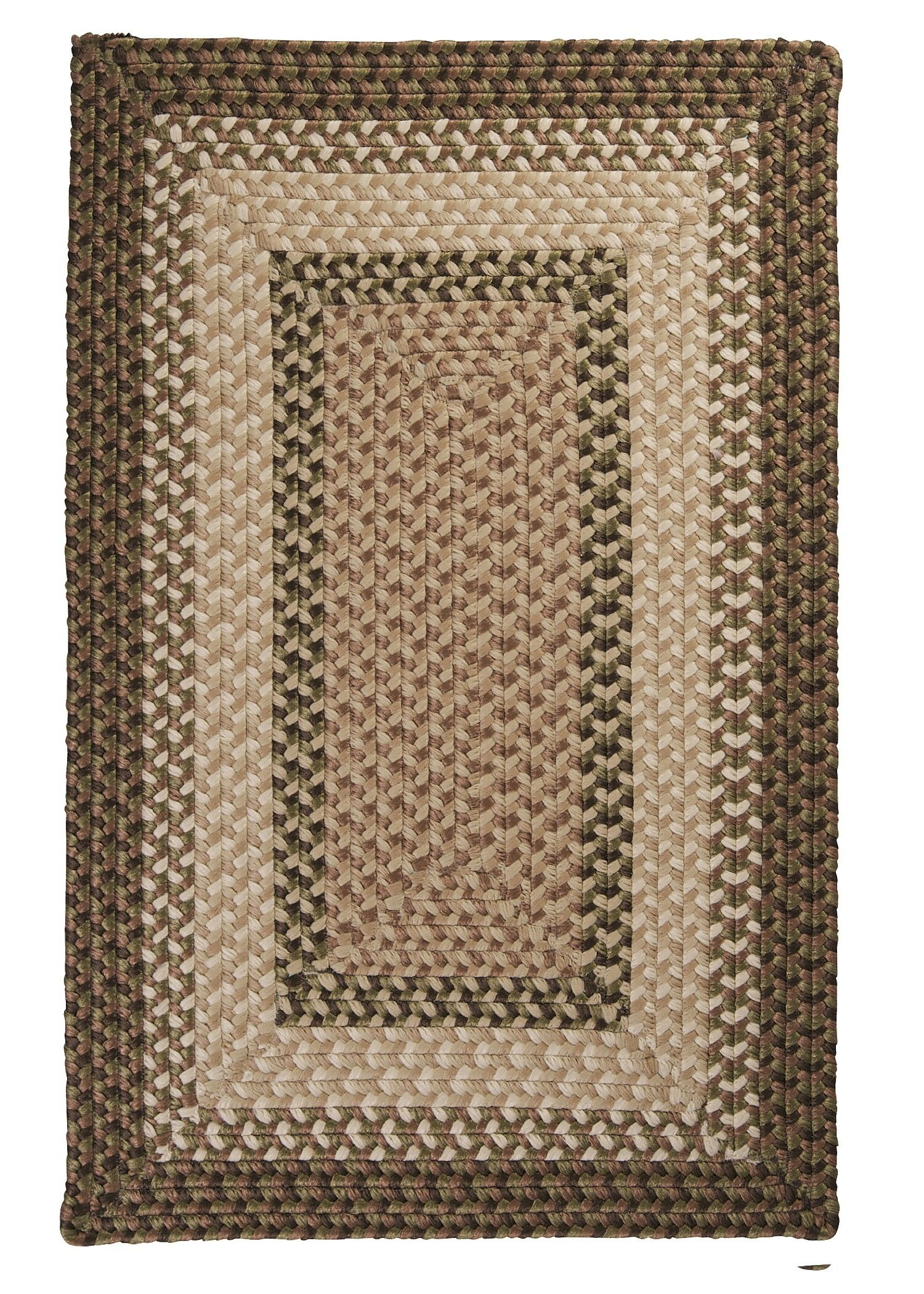 Tiburon Spruce Green Braided Indoor/Outdoor Area Rug Rug Size: Square 6'