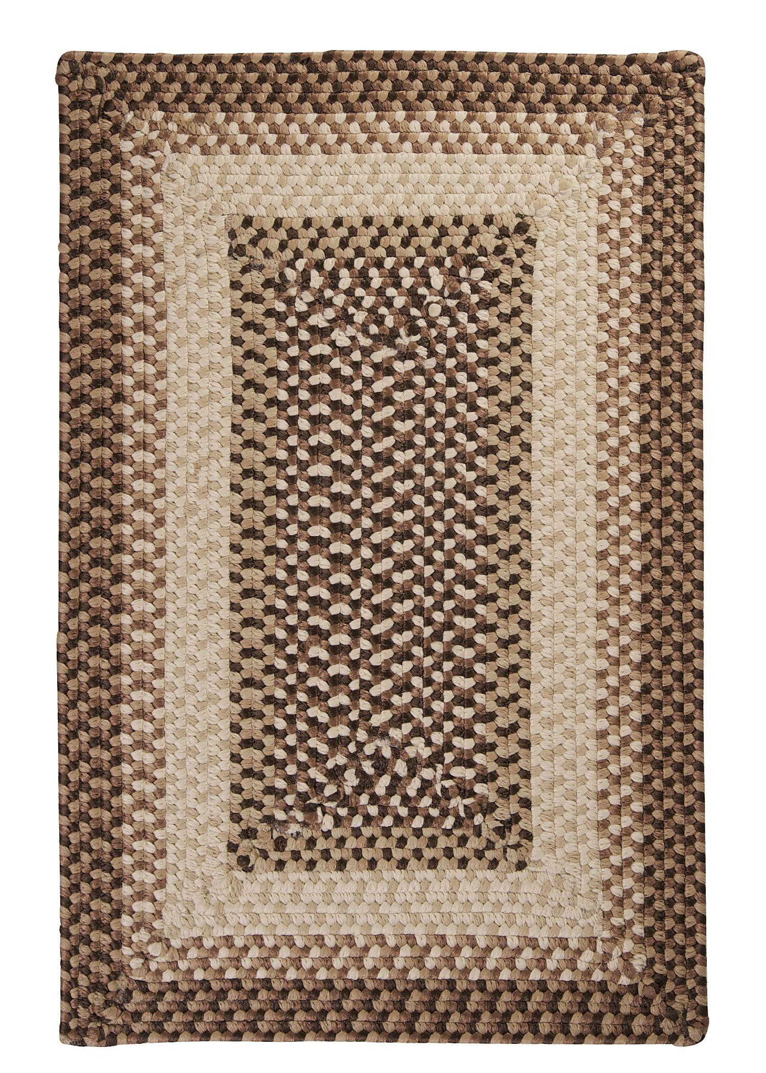 Tiburon Sandstorm Braided Indoor/Outdoor Area Rug Rug Size: Square 10'
