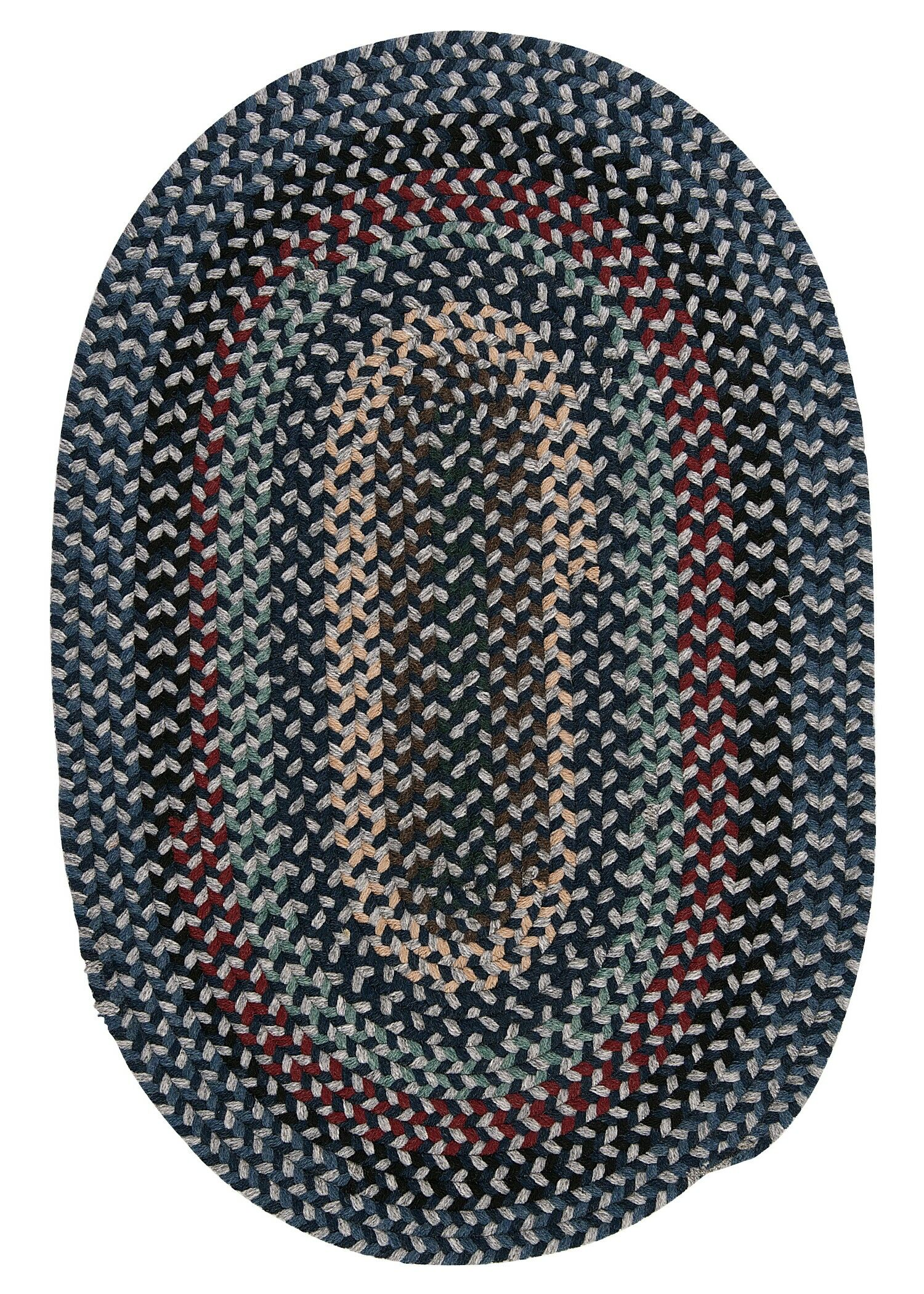 Lettie Winter Blues Area Rug Rug Size: Oval 4' x 6'