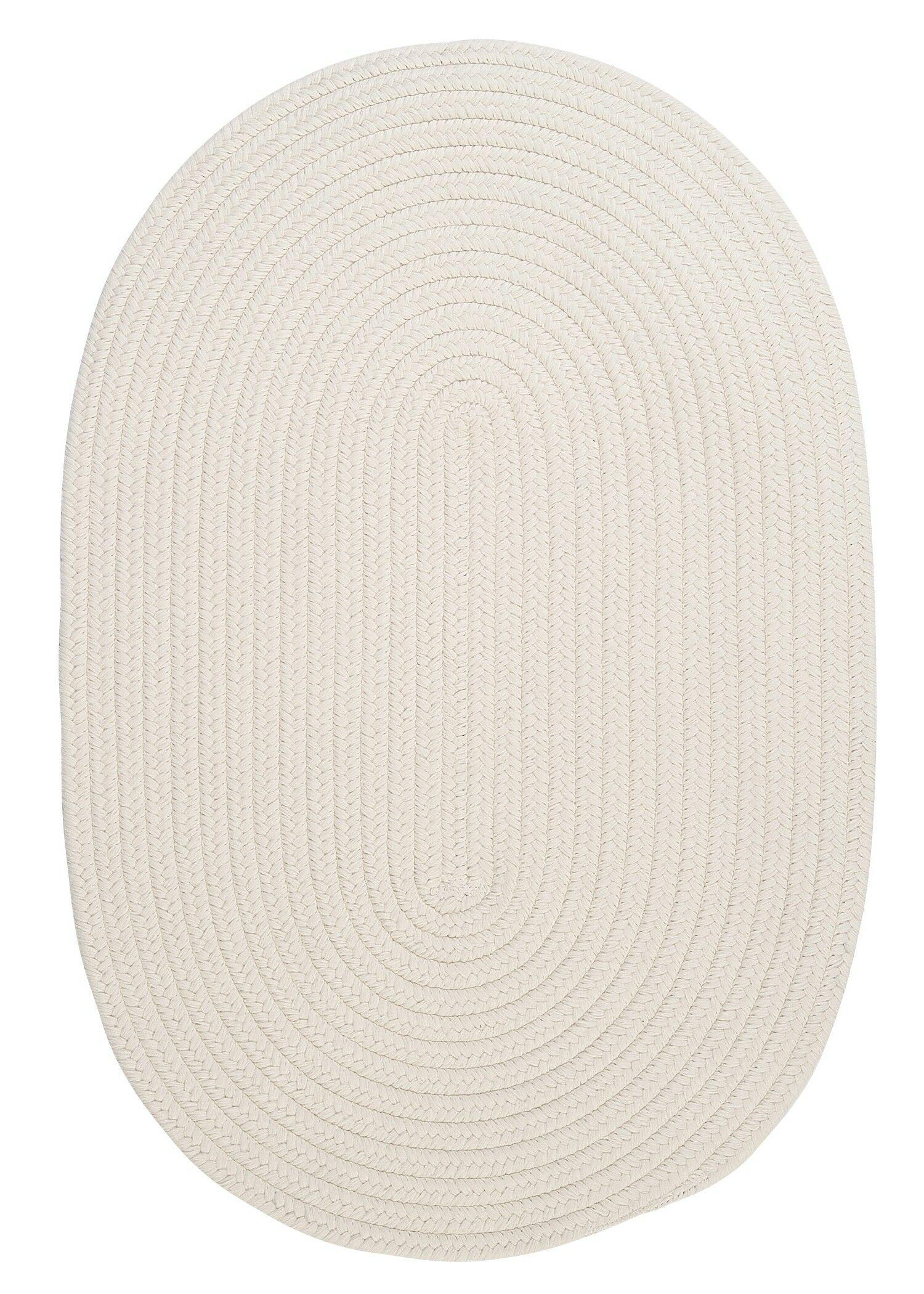 Boca Raton White Indoor/Outdoor Area Rug Rug Size: Oval 7' x 9'