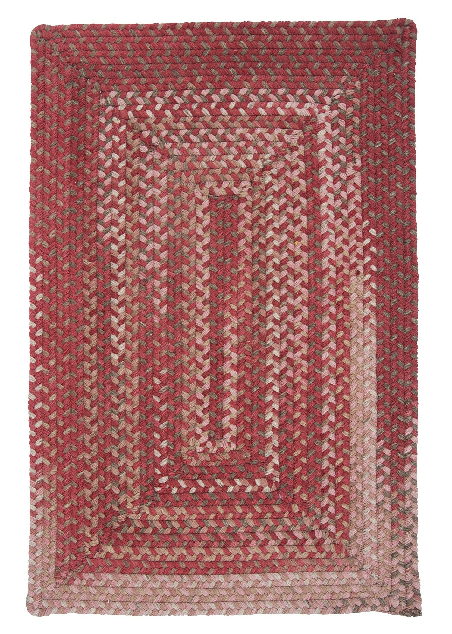 Gloucester Rhubarb Braided Red Area Rug Rug Size: Runner 2' x 10'