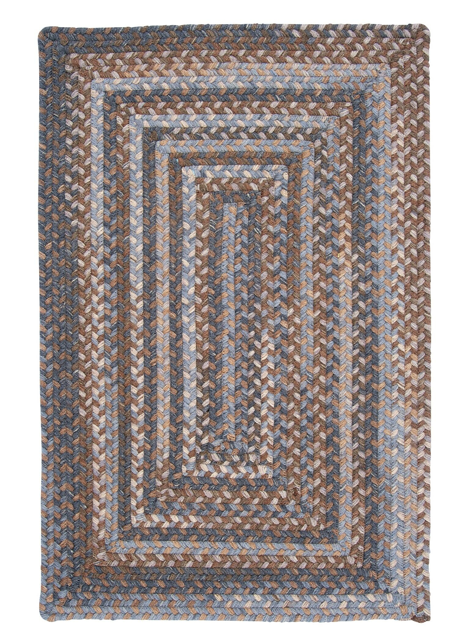 Gloucester Graphite Braided Brown/Tan Area Rug Rug Size: Square 6'