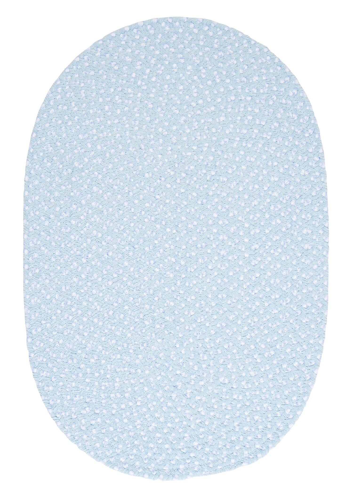 Confetti Sky Blue Area Rug Rug Size: Oval 12' x 15'