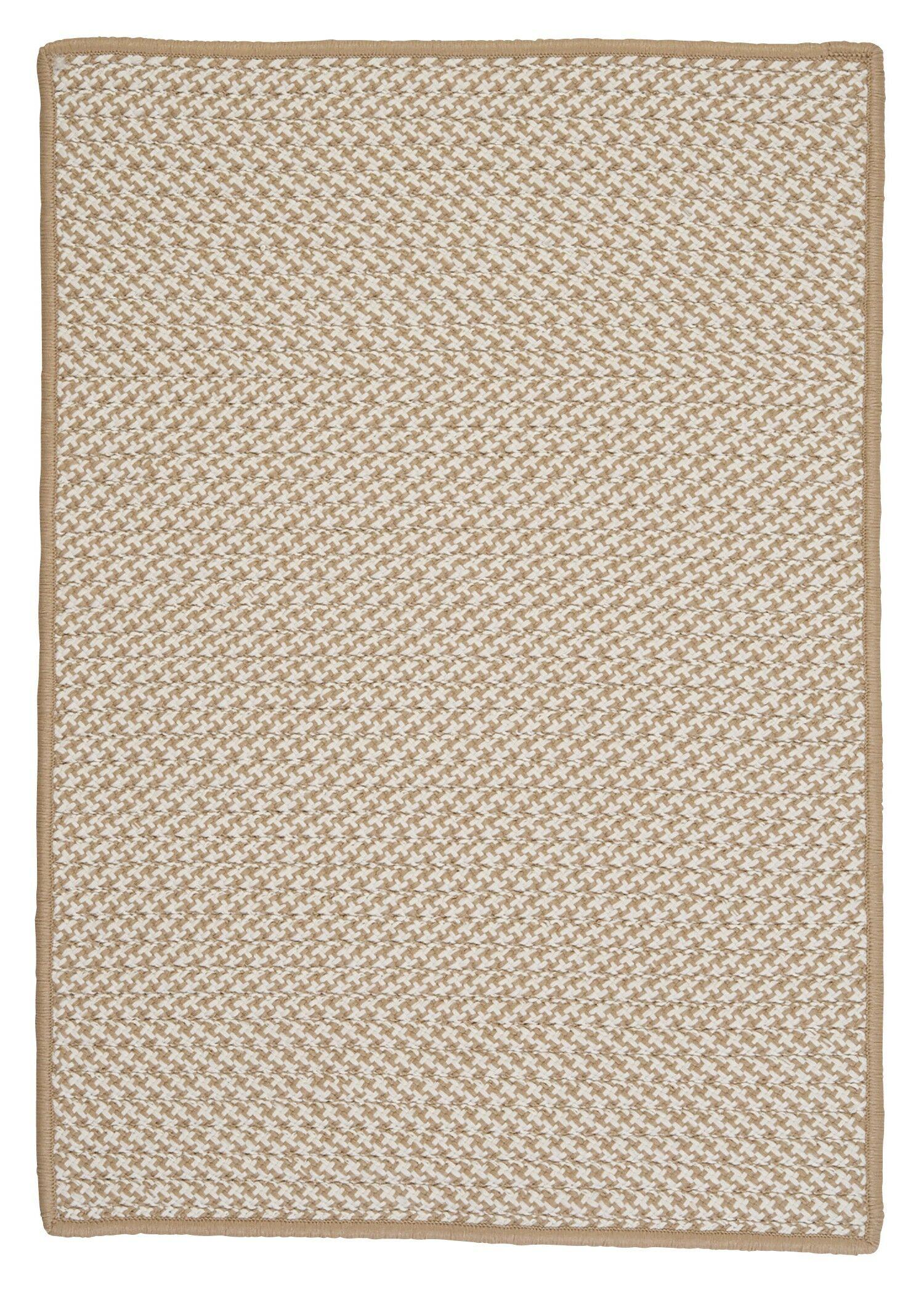 Outdoor Houndstooth Tweed Cuban Sand Rug Rug Size: Rectangle 4' x 6'