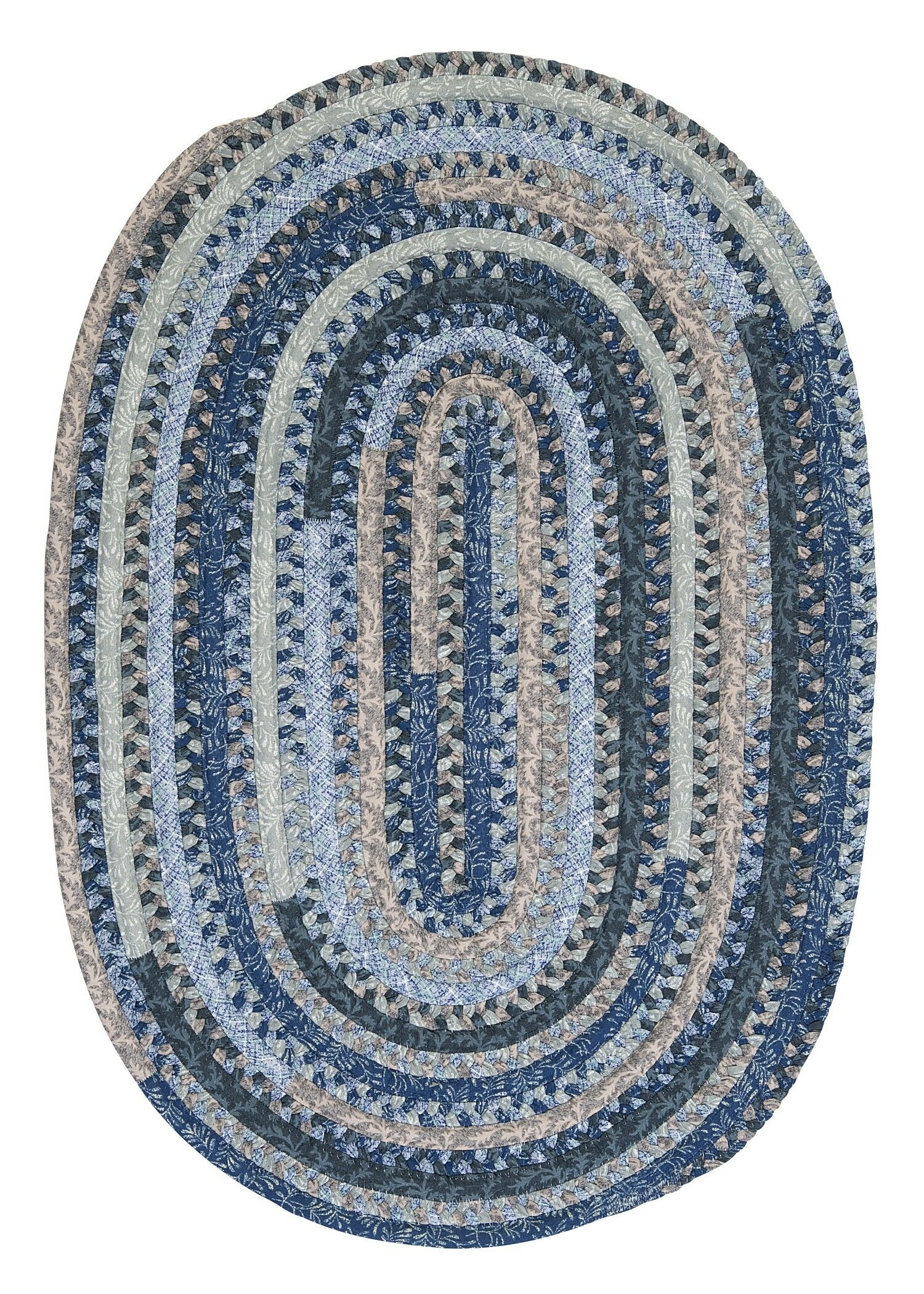 Print Party Ovals Blue Area Rug Rug Size: Oval 3' x 5'