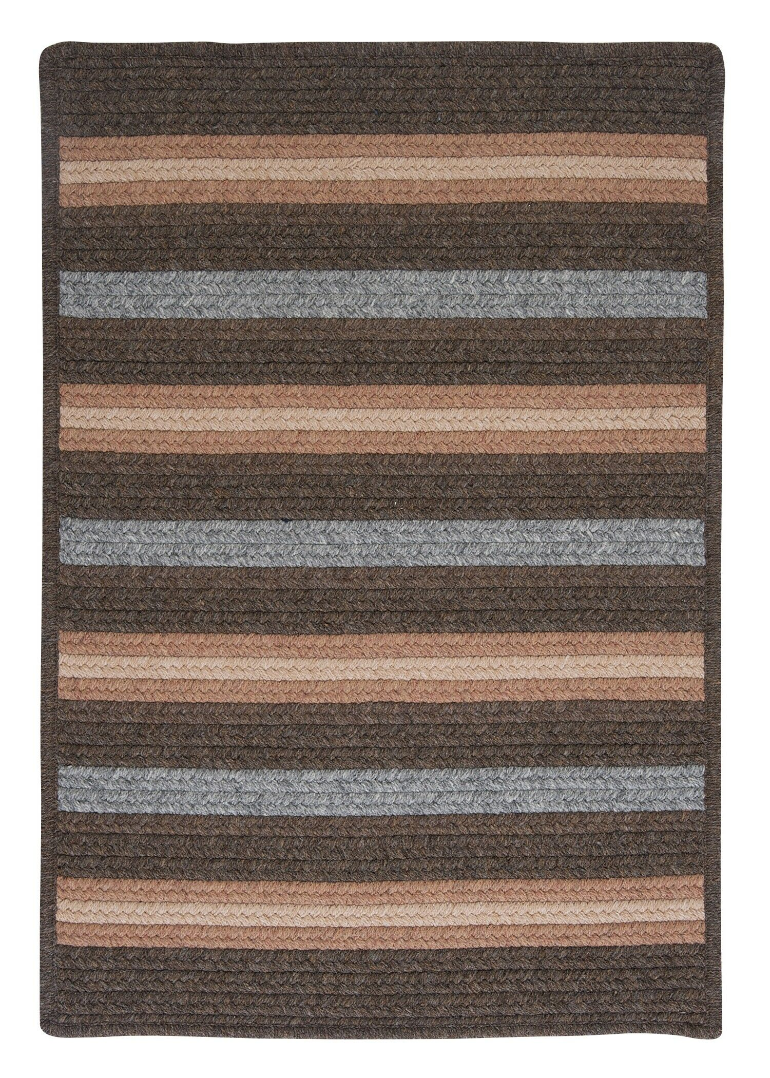 Salisbury Brown Striped Area Rug Rug Size: Square 8'