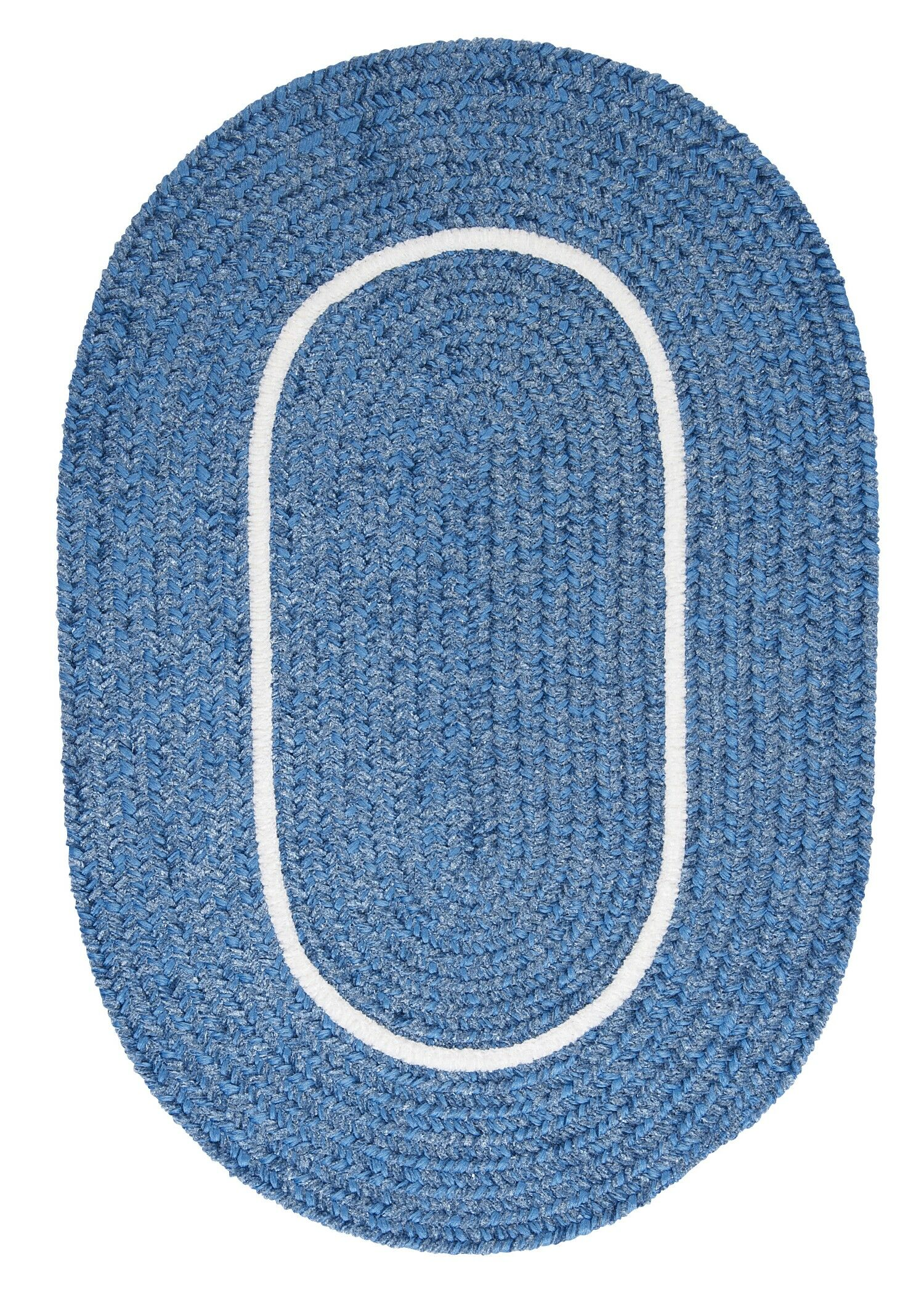 Silhouette Blue Indoor/Outdoor Area Rug Rug Size: Round 4'