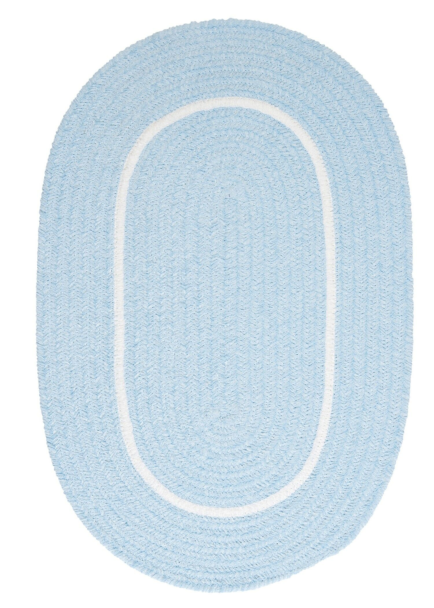 Silhouette Blue Indoor/Outdoor Area Rug Rug Size: Oval Runner 2' x 6'