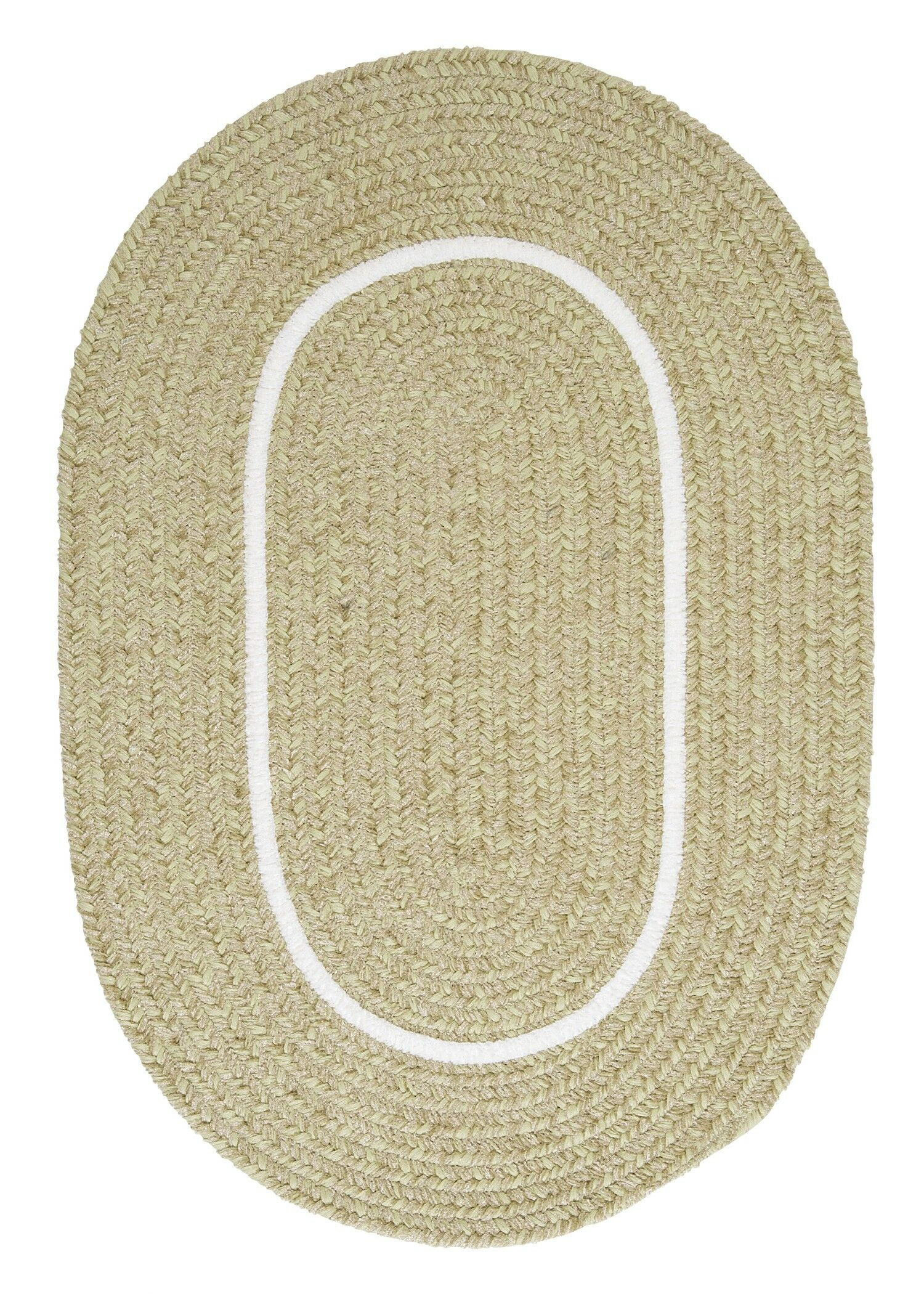 Silhouette Green Indoor/Outdoor Area Rug Rug Size: Oval 3' x 5'
