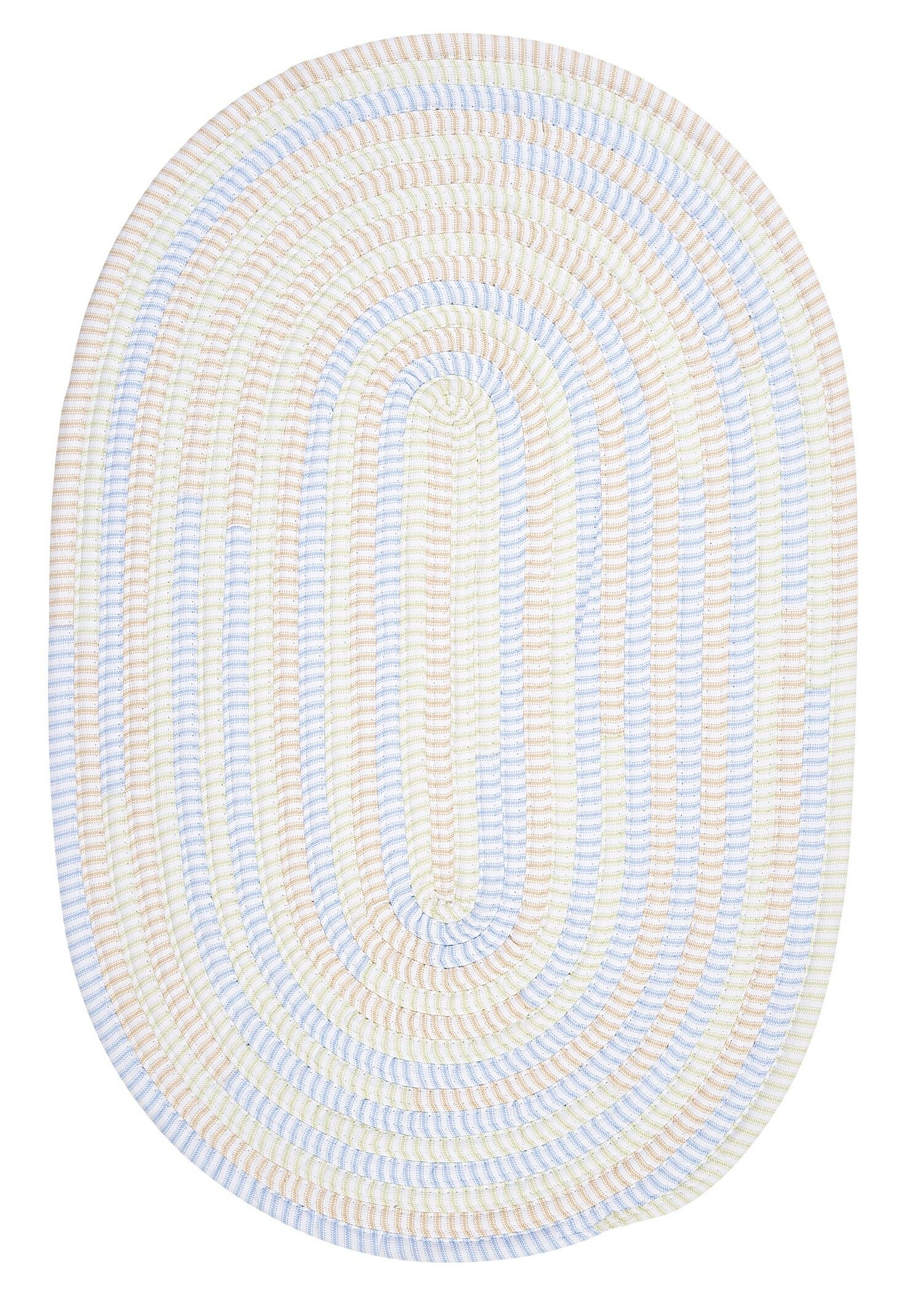 Ticking Stripe Starlight Area Rug Rug Size: Oval Runner 2' x 10'