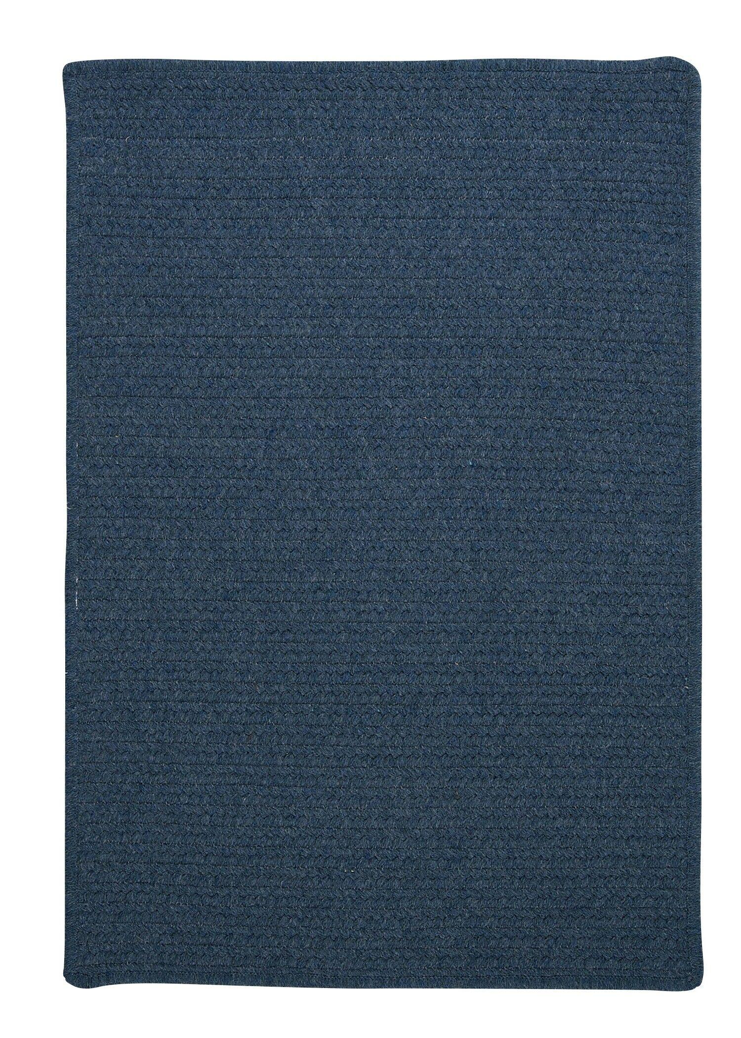 Westminster Federal Blue Area Rug Fringe: Included, Rug Size: Square 10'