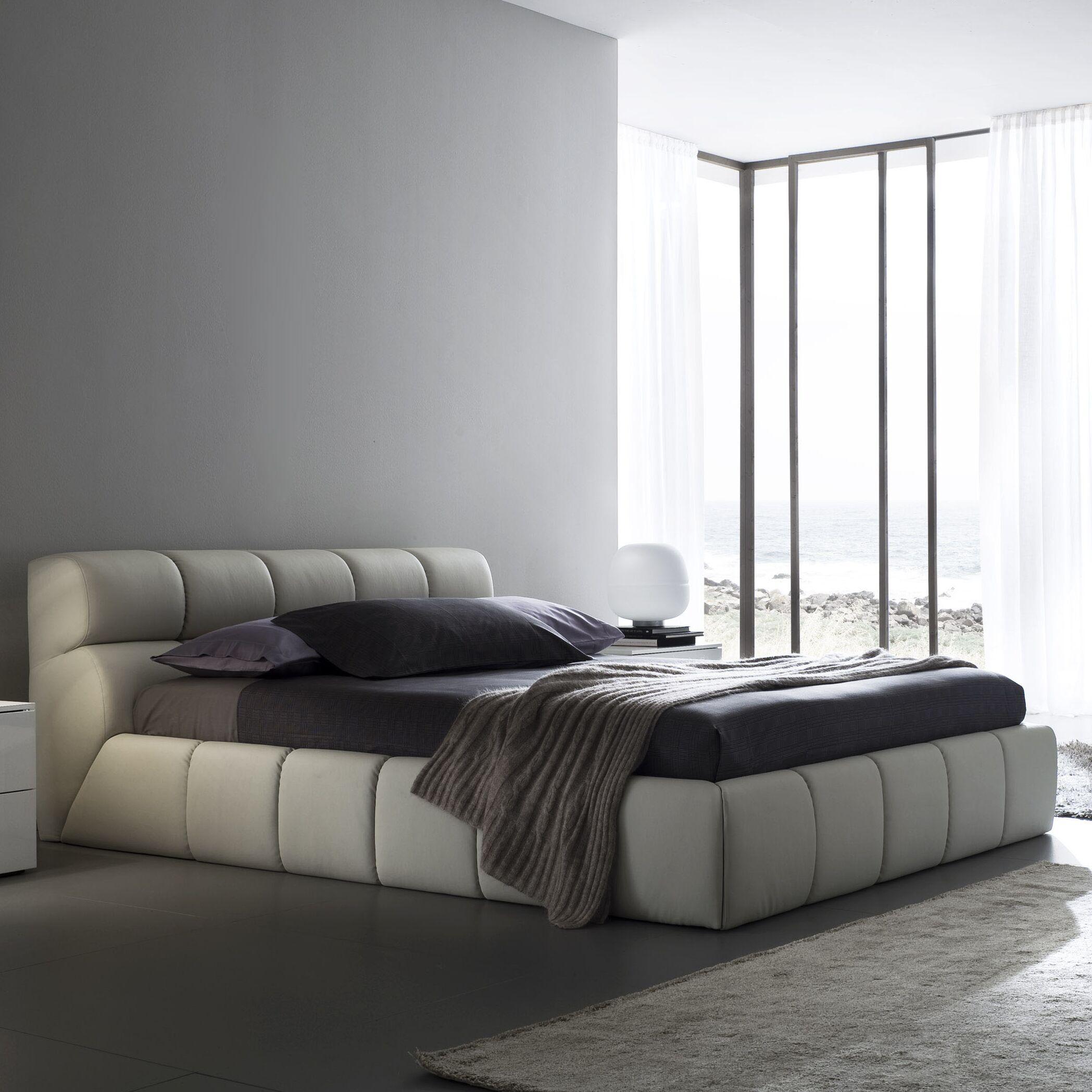 Cloud Upholstered Platform Bed Size: King, Color: Beige