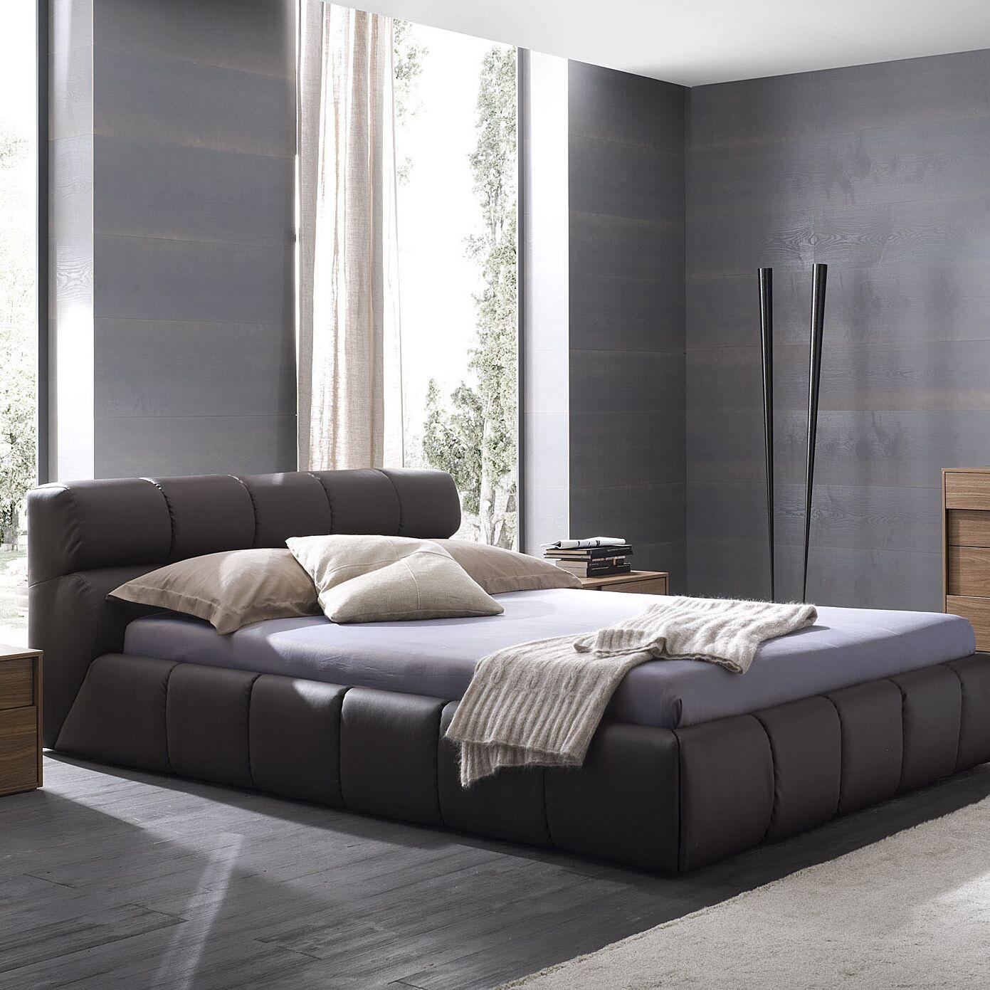 Cloud Upholstered Platform Bed Size: Queen, Color: Brown