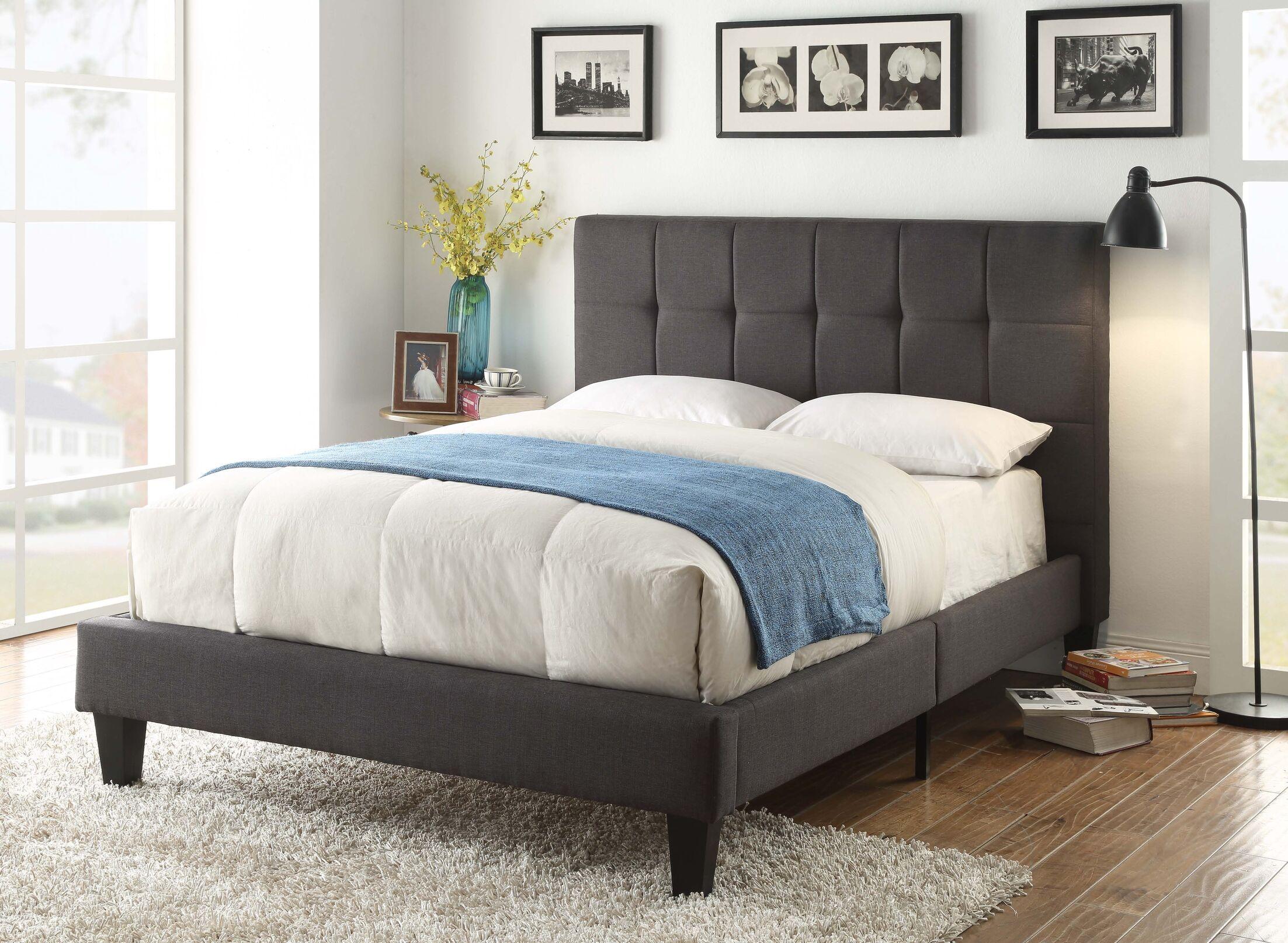 Mcglade Albert Upholstered Platform bed Size: King