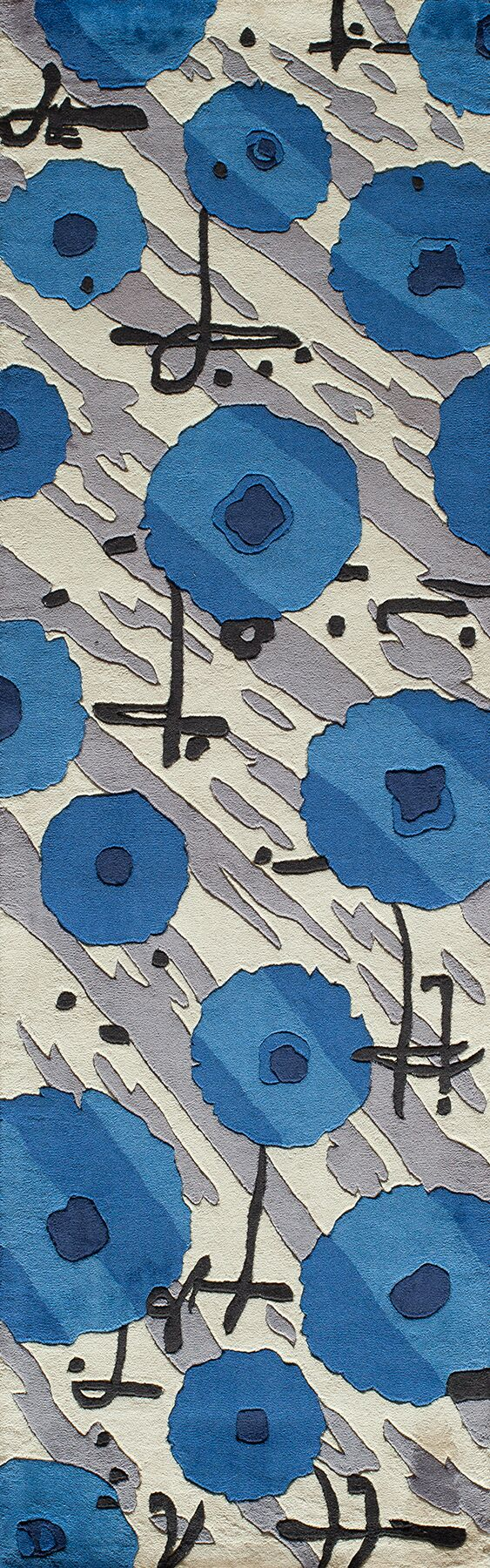 Olivia Hand-Tufted Blue Area Rug Rug Size: Rectangle 5'3
