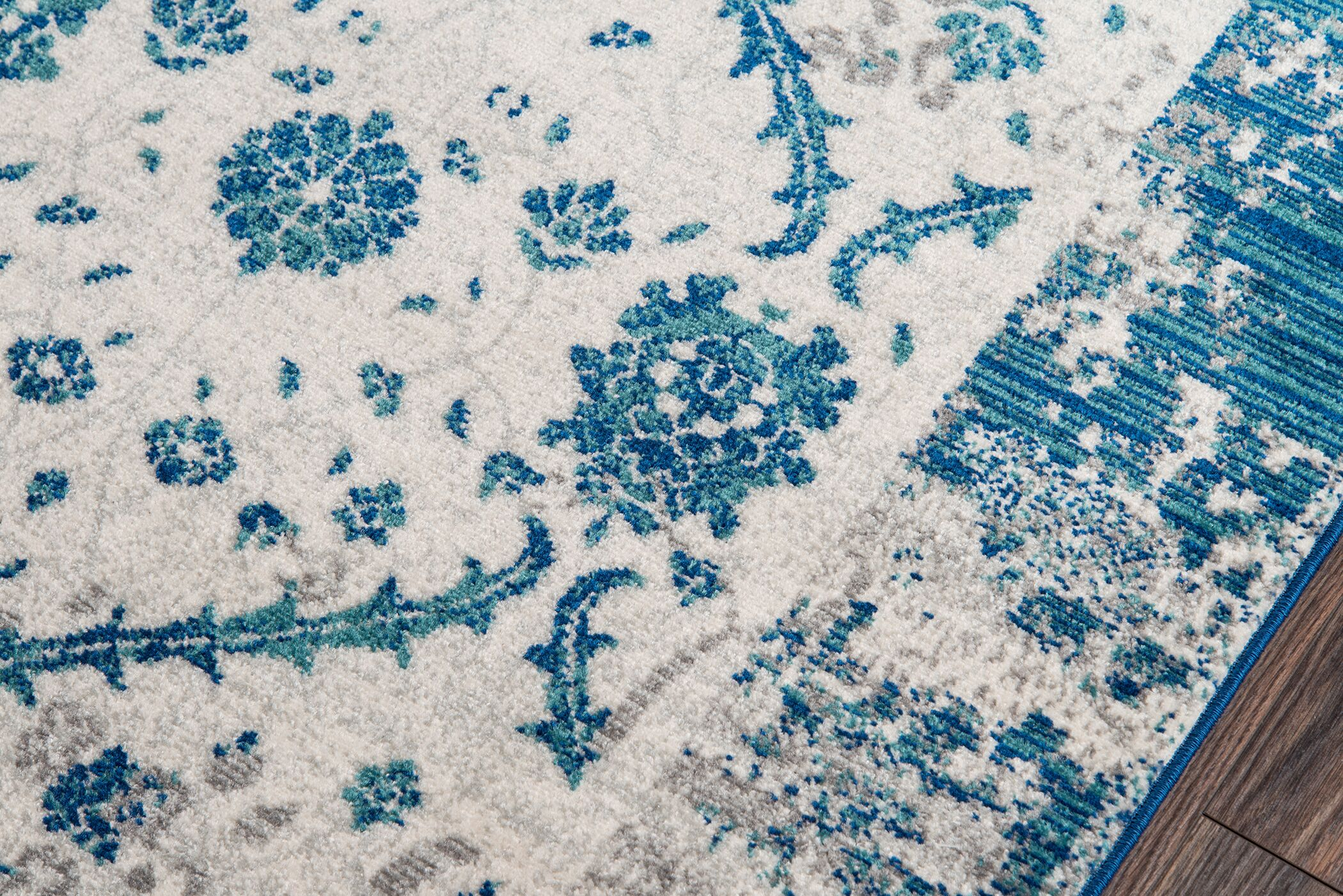 Chacon Blue Indoor/Outdoor Area Rug Rug Size: Rectangle 7'10
