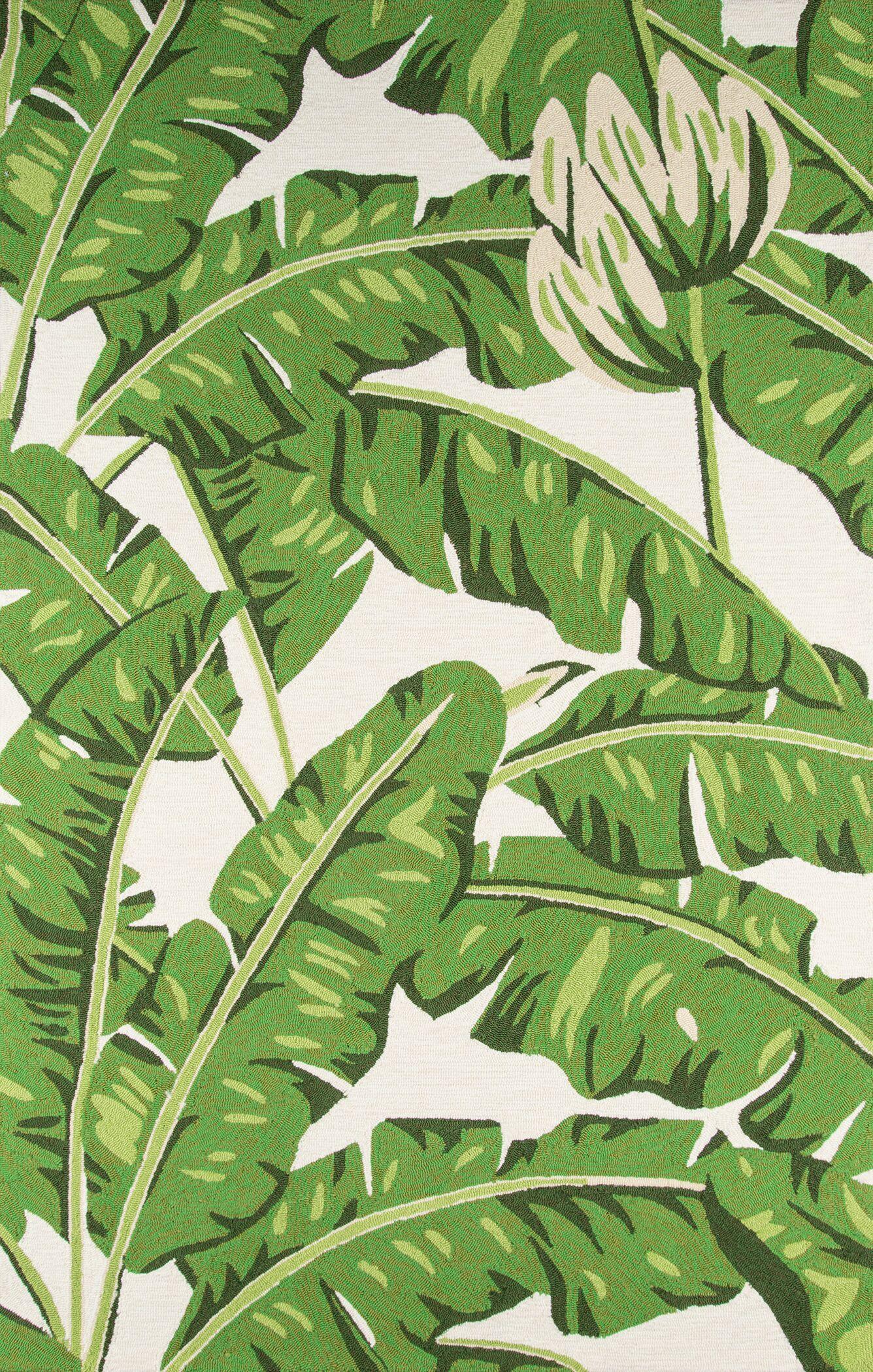 Zaliki Hand-Hooked Green Indoor/Outdoor Area Rug Rug Size: Round 9'