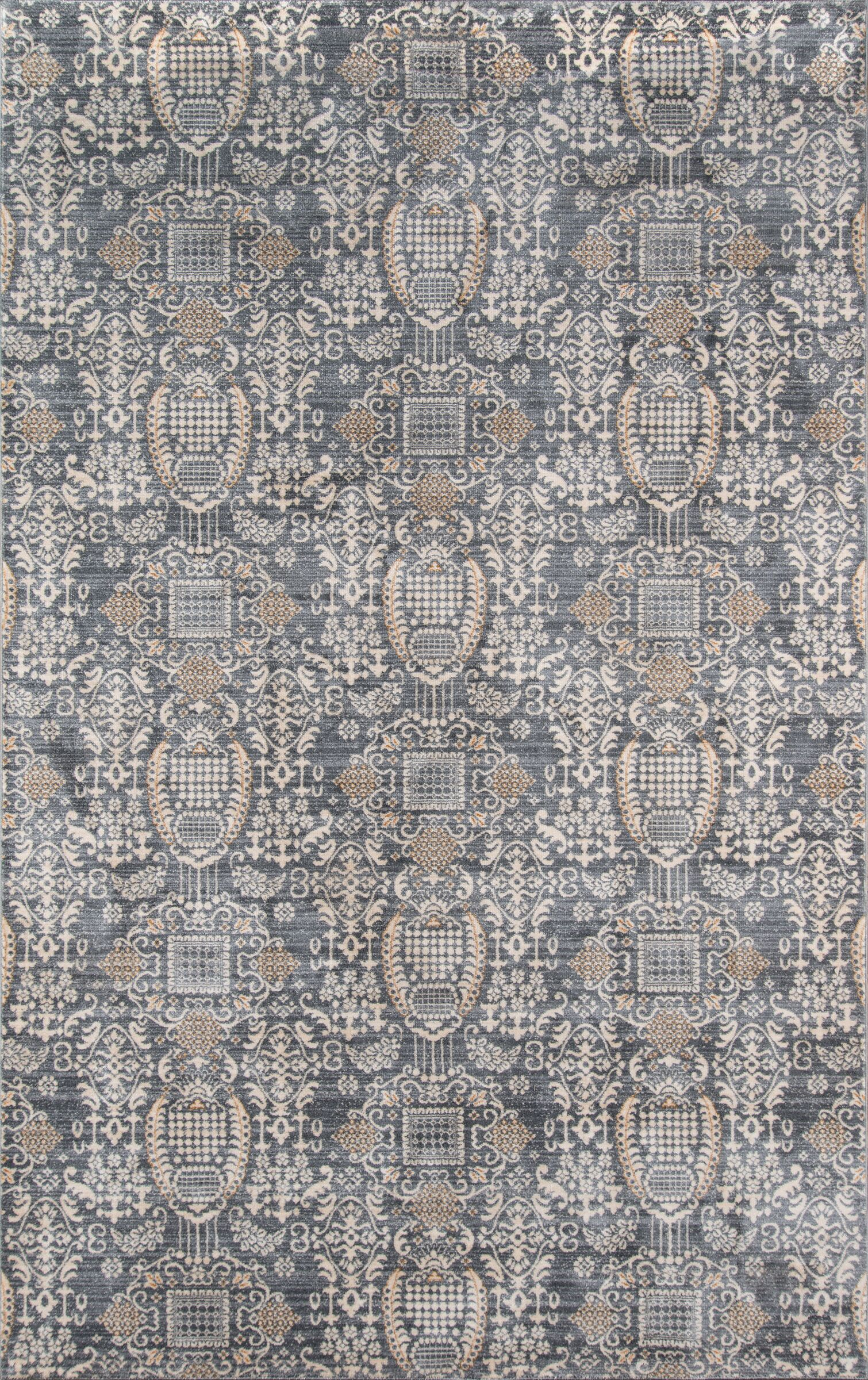 Lyons Gray Area Rug Rug Size: Rectangle 9'2