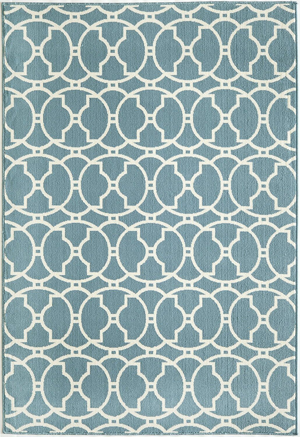 Baltimore Blue Indoor/Outdoor Area Rug Rug Size: Rectangle 8'6