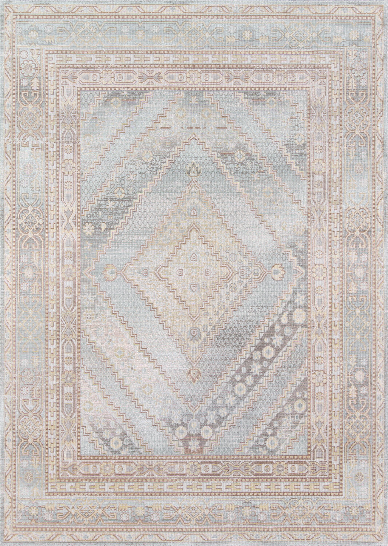 Sofian Blue Geometric Area Rug Rug Size: Rectangle 4' x 6'
