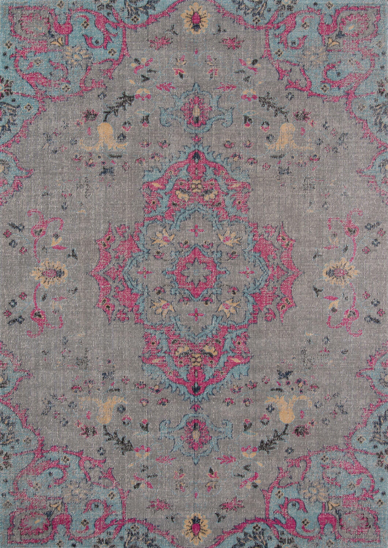 Thadine Gray Oriental Area Rug Rug Size: Rectangle 7'10