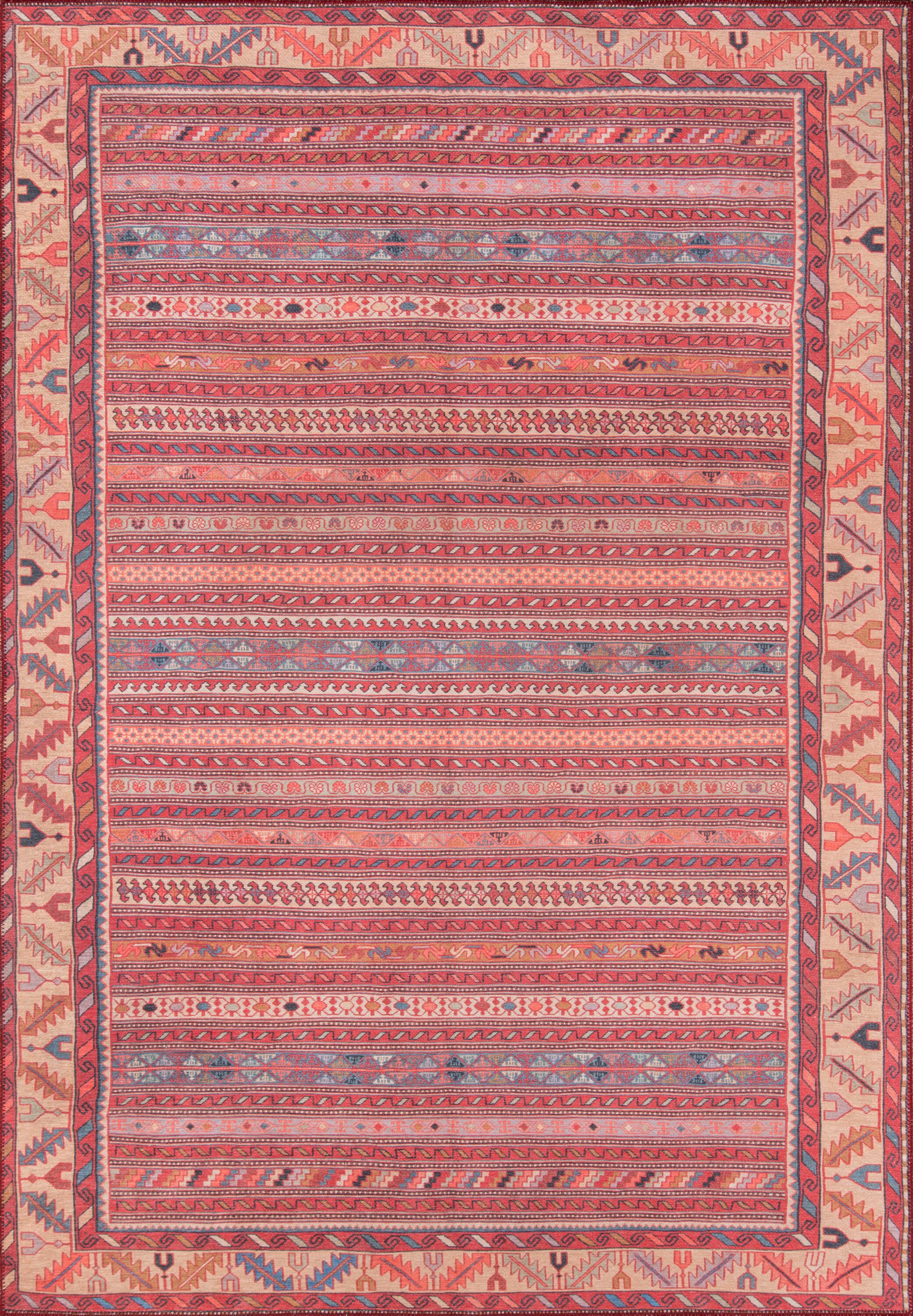 Monomoy Red Area Rug Rug Size: Rectangle 2' x 3'