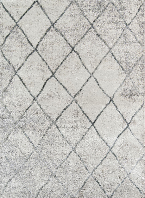 Northwick Indoor Gray Trellis Area Rug Rug Size: Rectangle 7'6