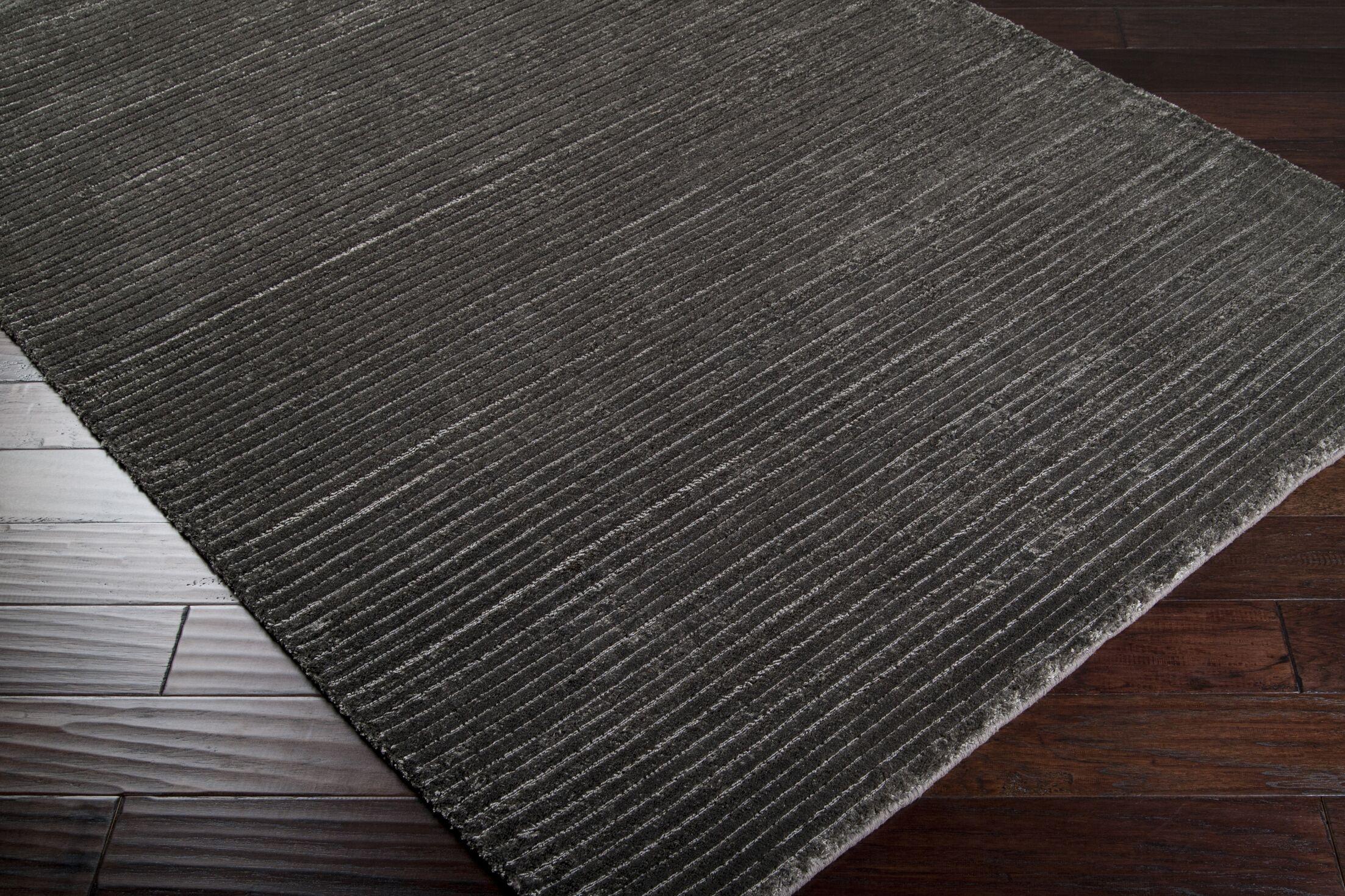 Ernestine Hand-Woven Gray Area Rug Rug Size: Rectangle 5' x 8'