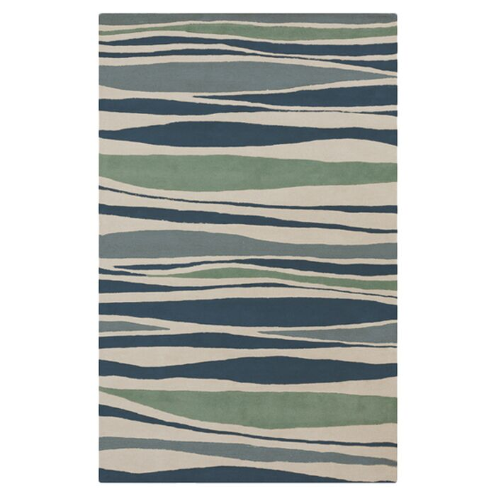Brickyard Parchment/Pacific Blue Rug Rug Size: Rectangle 5' x 8'