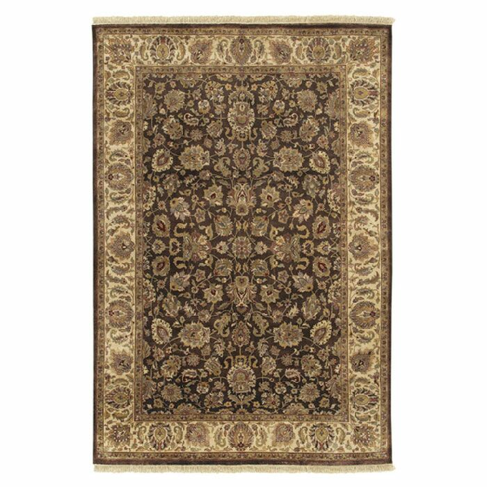 Attica Brown Floral Area Rug Rug Size: Rectangle 8'6