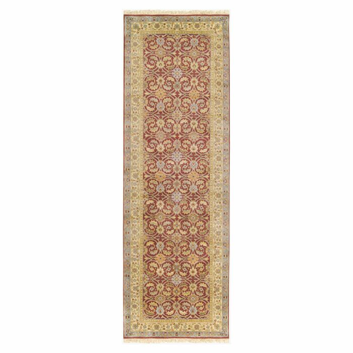 Attica Hand-Woven Wool Red Area Rug Rug Size: Runner 3' x 12'