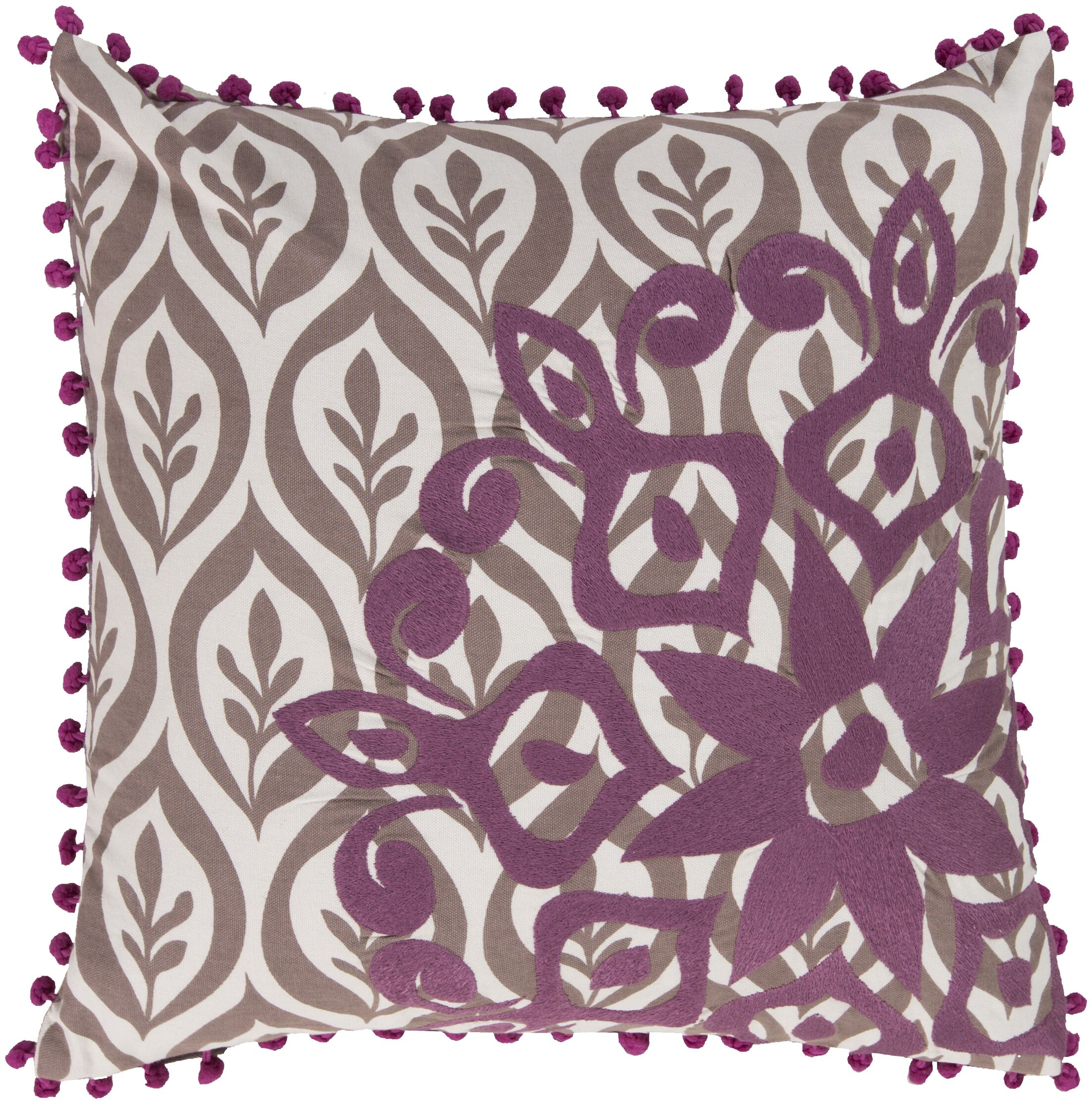 Overlapping Cotton Throw Pillow Color: Purple, Fill Material: Polyester
