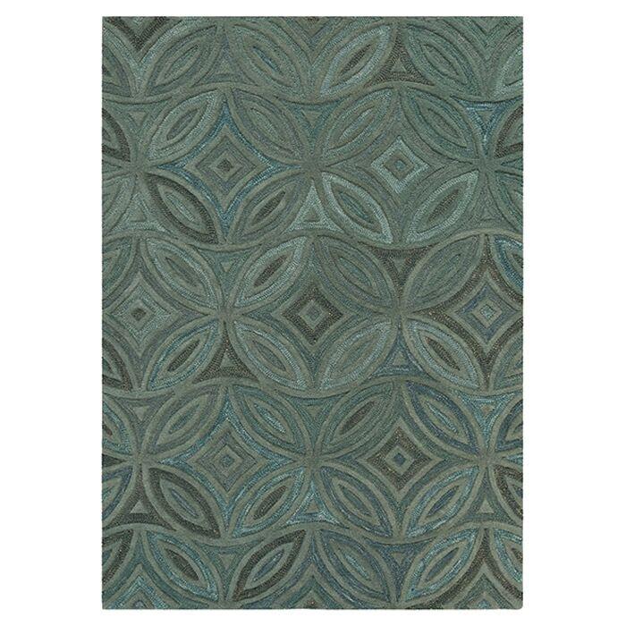 Quinn Green/Slate Gray Rug Rug Size: Rectangle 3'3