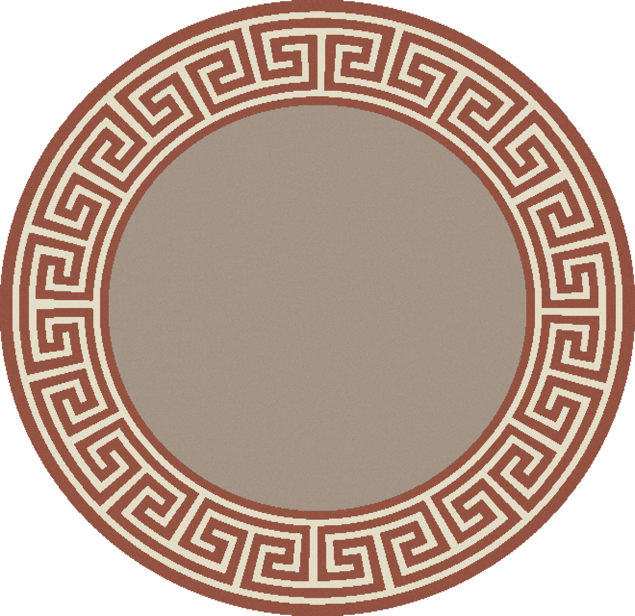 Pearce Rust/Taupe Indoor/Outdoor Area Rug Rug Size: Round 7'3
