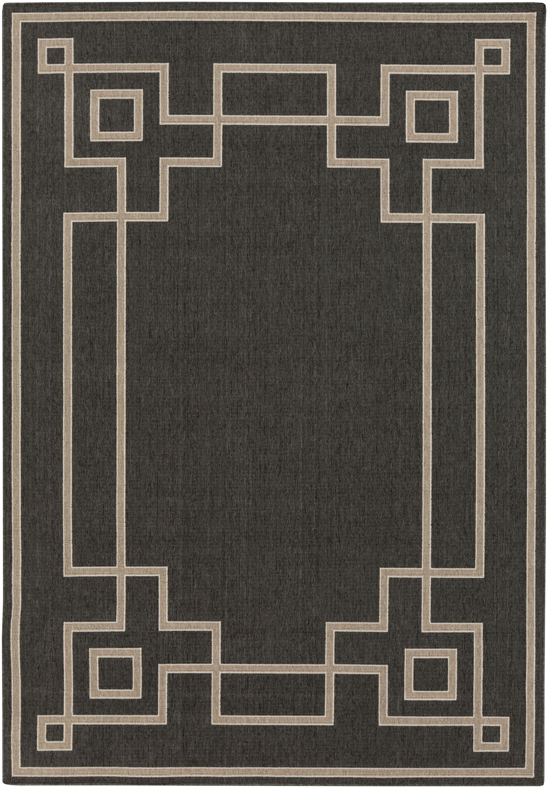 Pearce Black/Beige Indoor/Outdoor Area Rug Rug Size: Rectangle 8'9