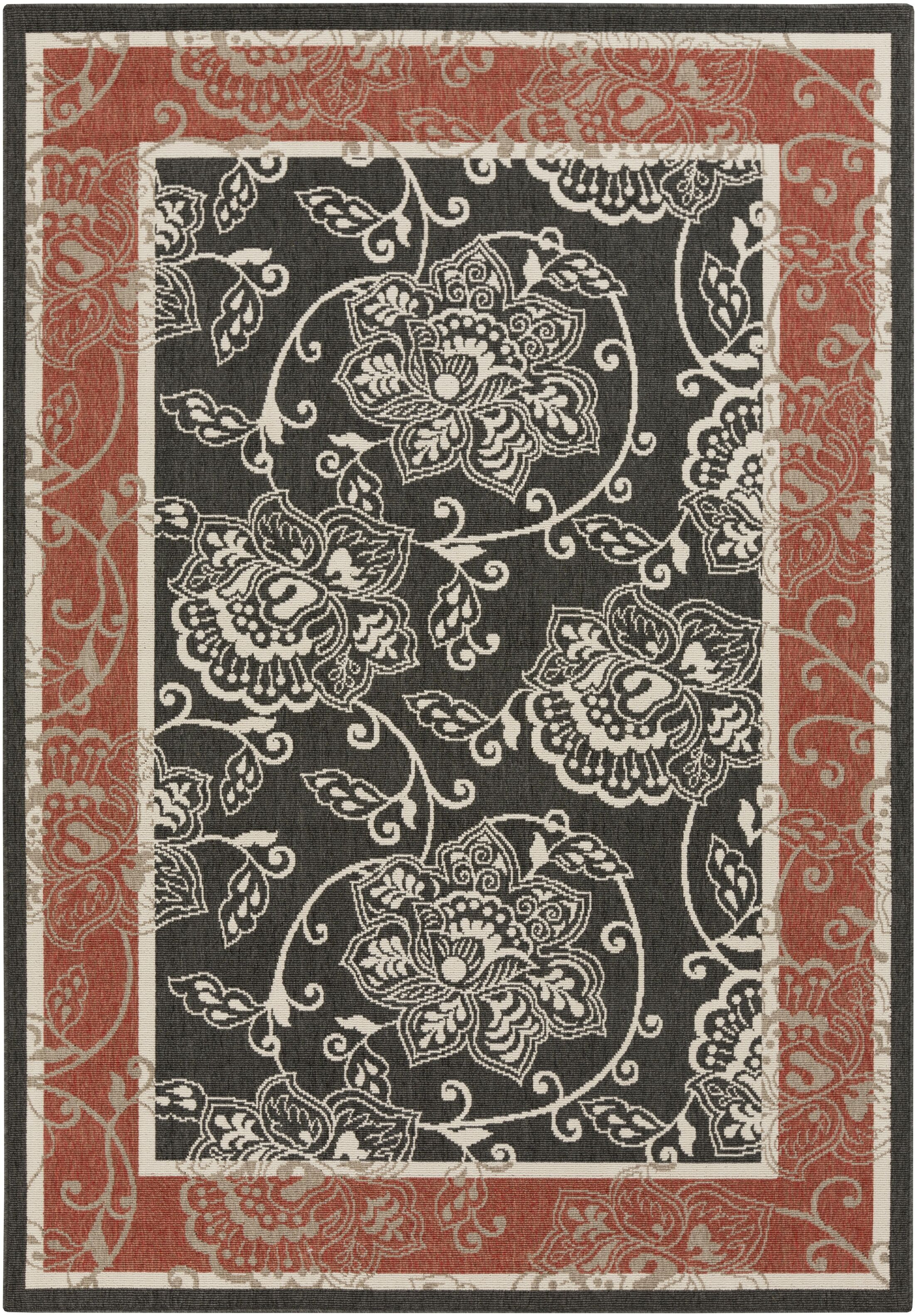 Pearce Taupe Indoor/Outdoor Area Rug Rug Size: Rectangle 7'6