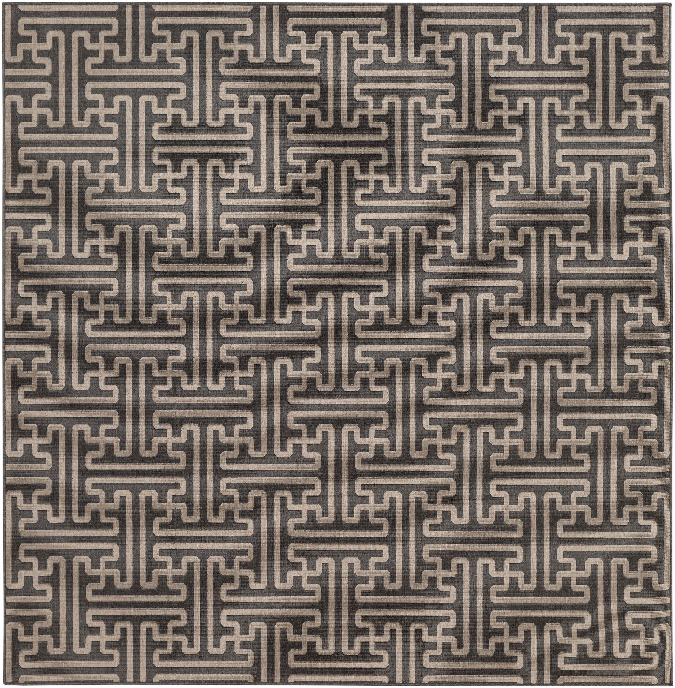 Borquez Black Indoor/Outdoor Area Rug Rug Size: Square 8'9