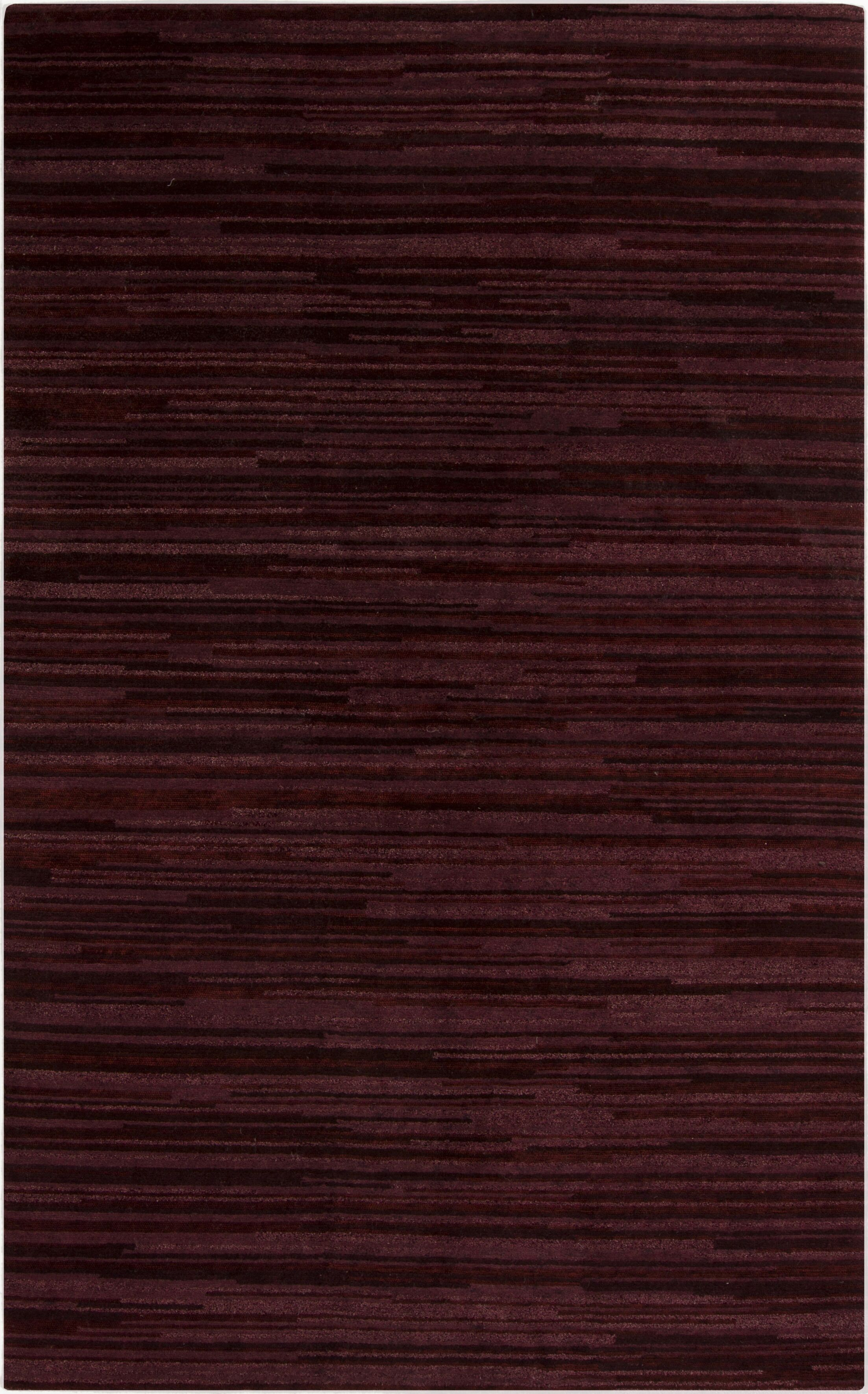 Alica Burgundy Striped Rug Rug Size: Rectangle 5' x 8'
