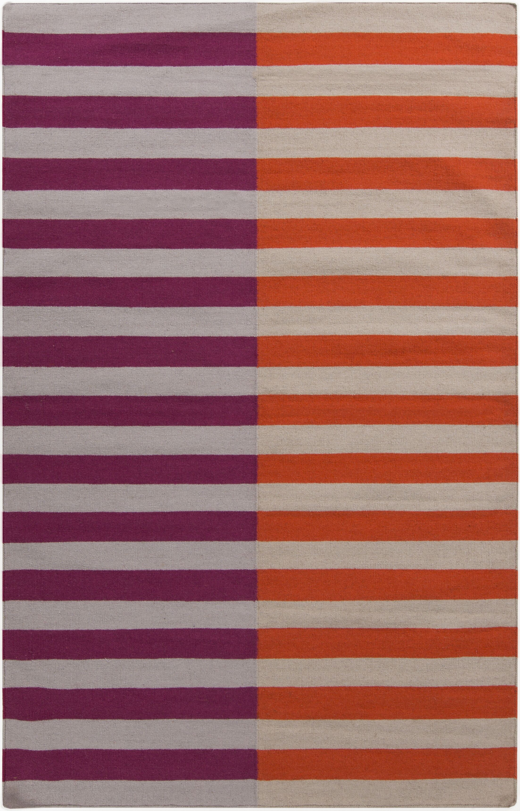 Marion Hand Woven Wool Pink/Orange Area Rug Rug Size: Rectangle 8' x 11'