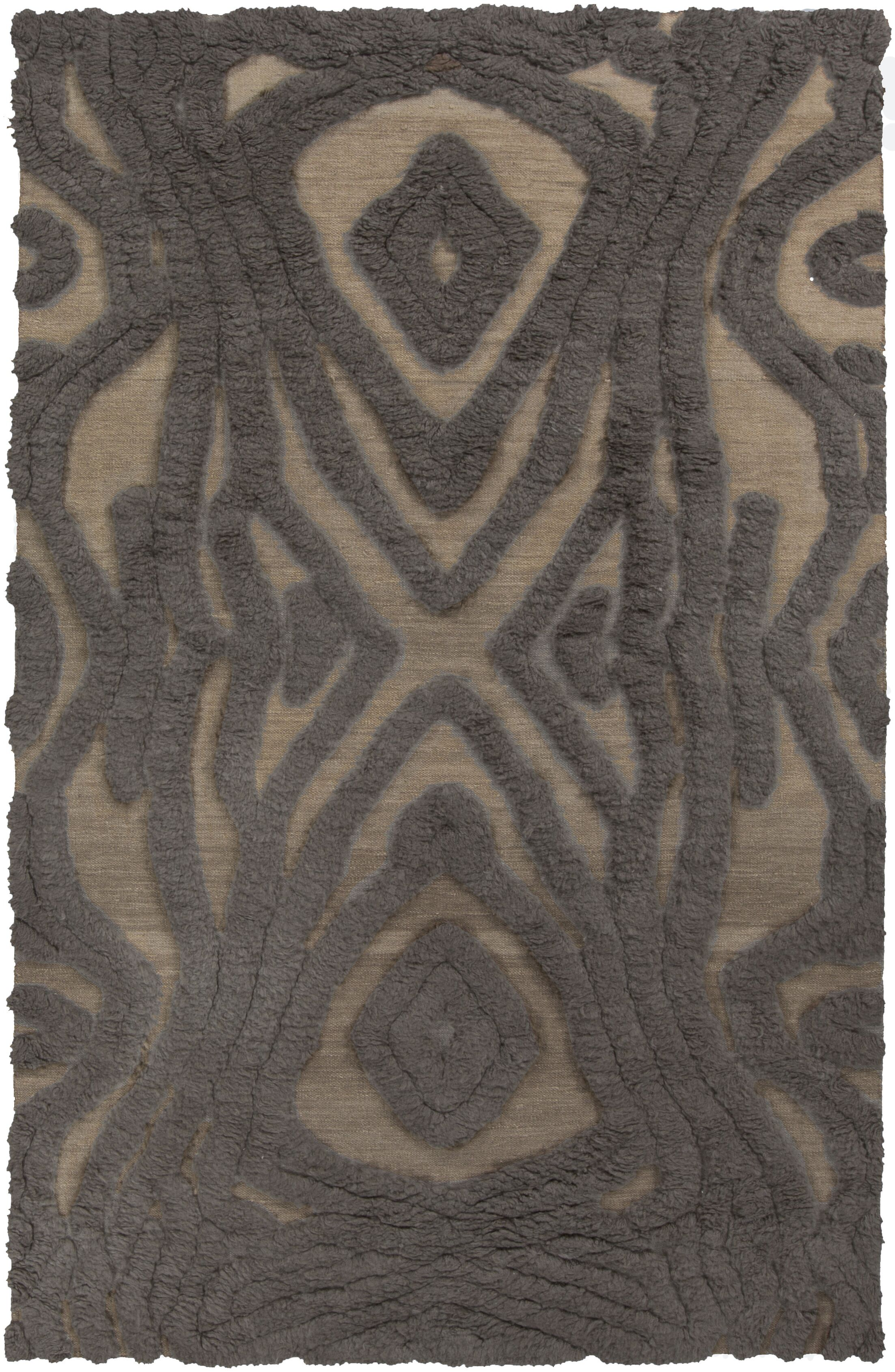Aubriana Hand Woven Wool Brown Area Rug Rug Size: Rectangle 8' x 11'
